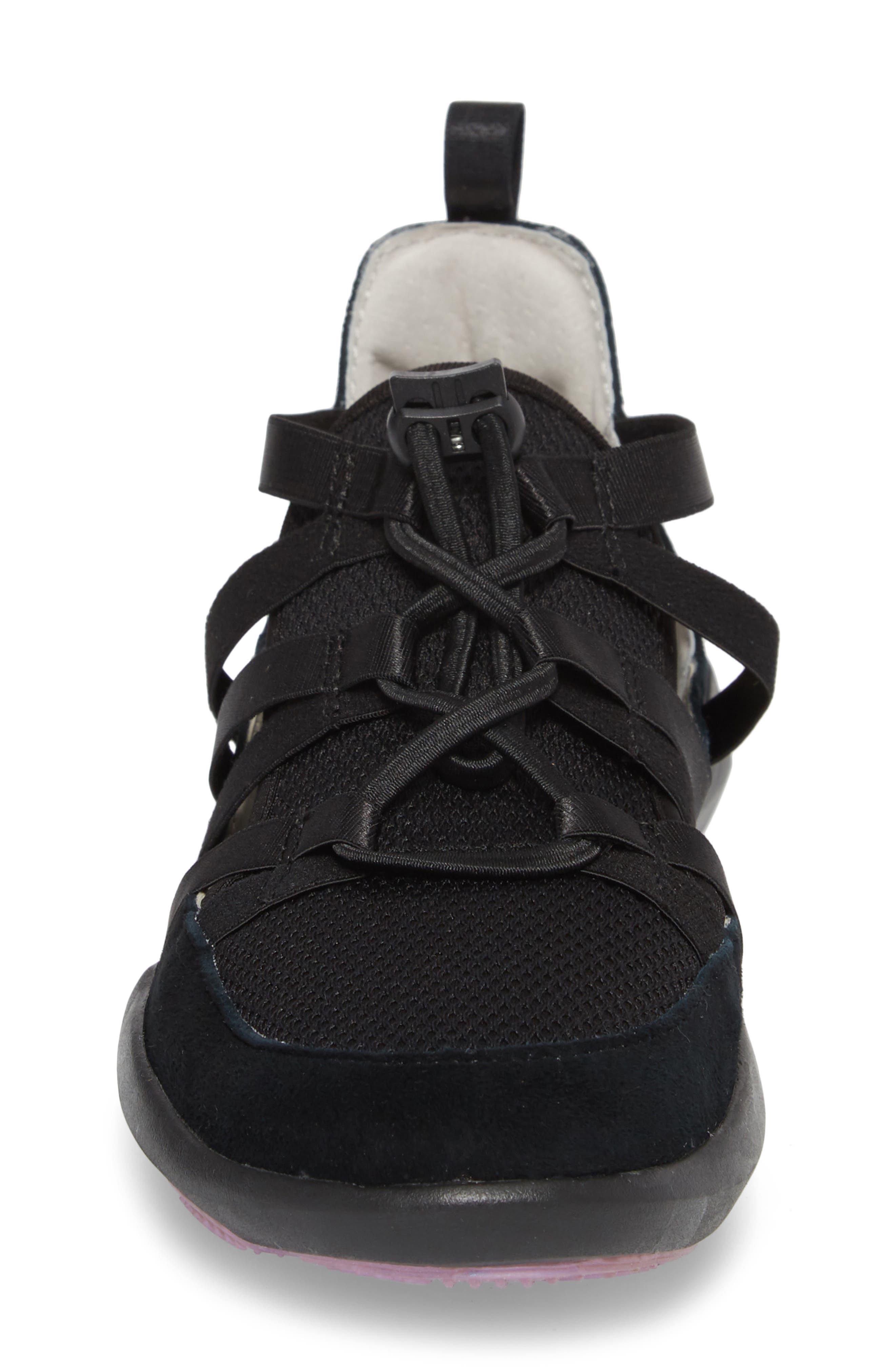 Azalea Sneaker,                             Alternate thumbnail 4, color,                             BLACK SUEDE