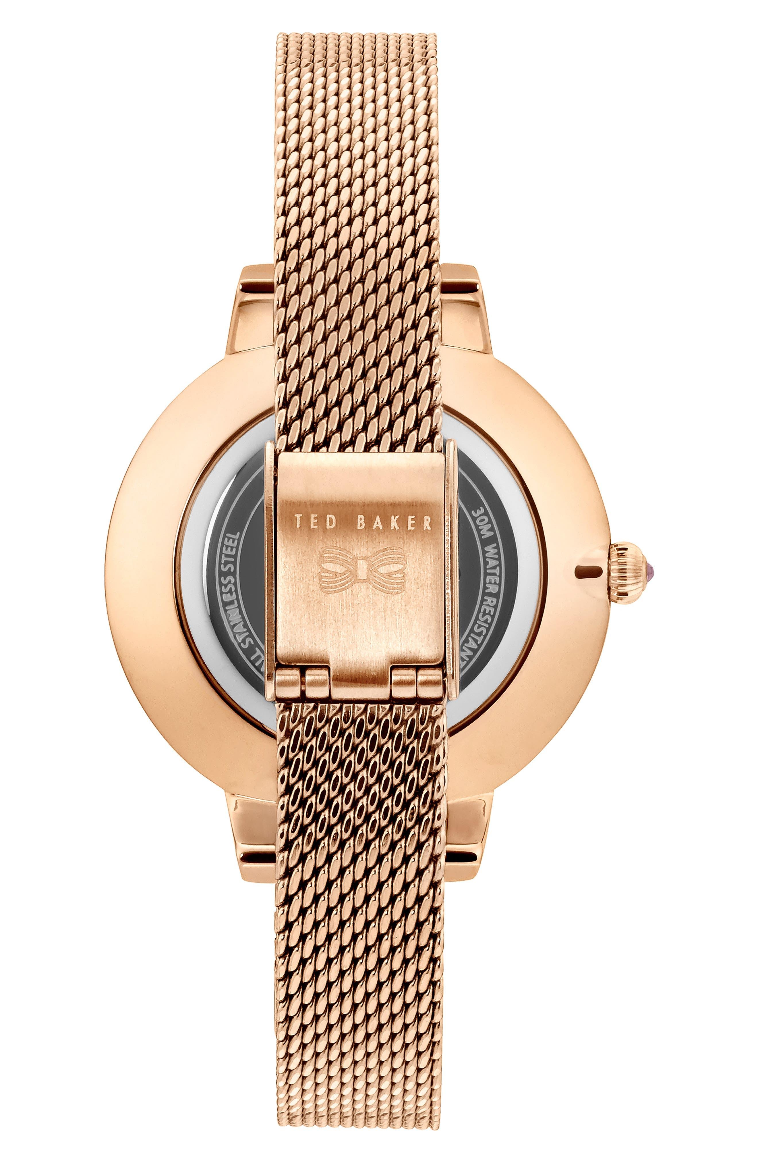 Kate Mesh Strap Watch, 32mm,                             Alternate thumbnail 2, color,                             ROSE GOLD/ MOP/ ROSE GOLD