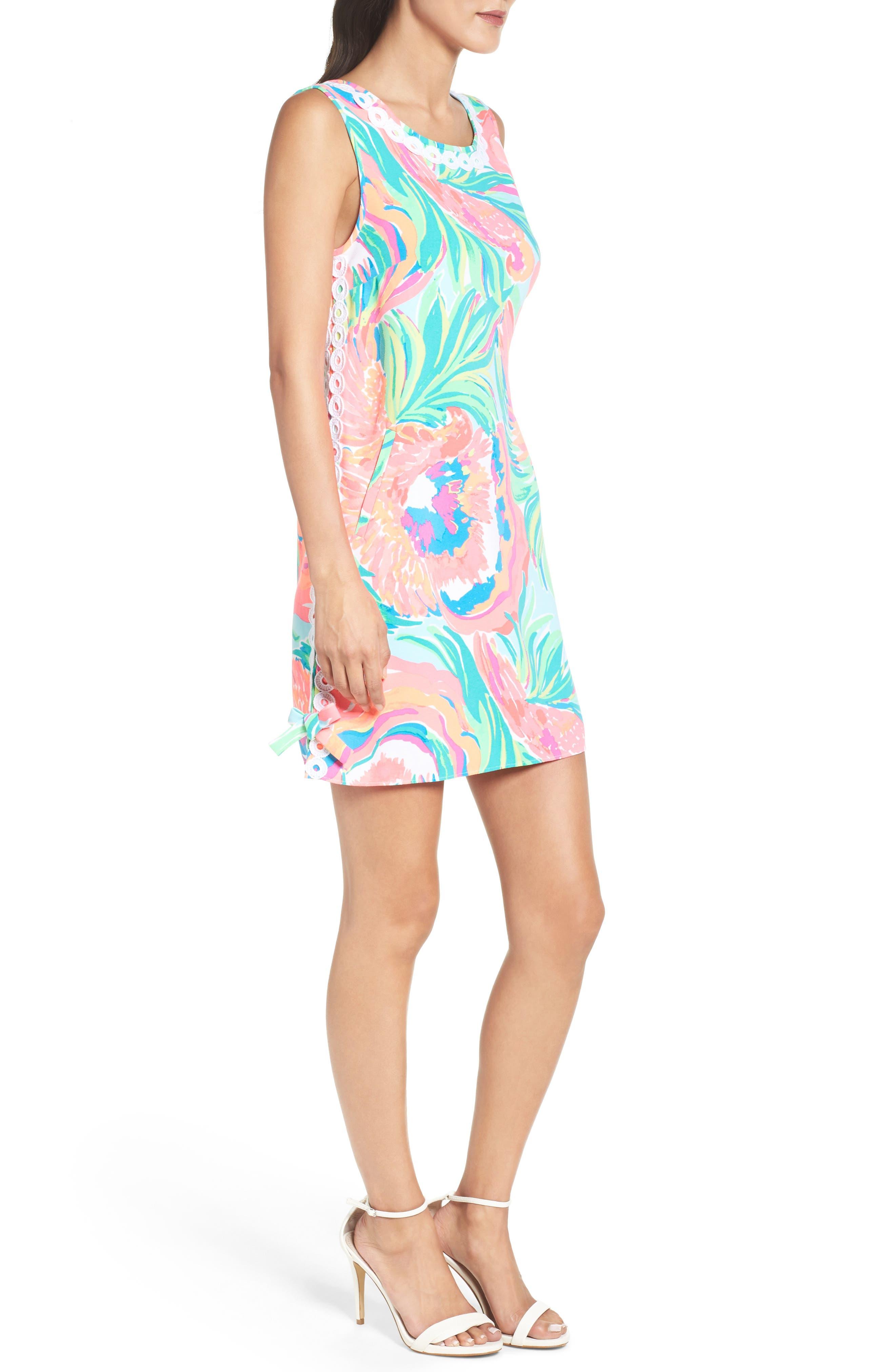 Stella Shift Dress,                             Alternate thumbnail 3, color,                             460