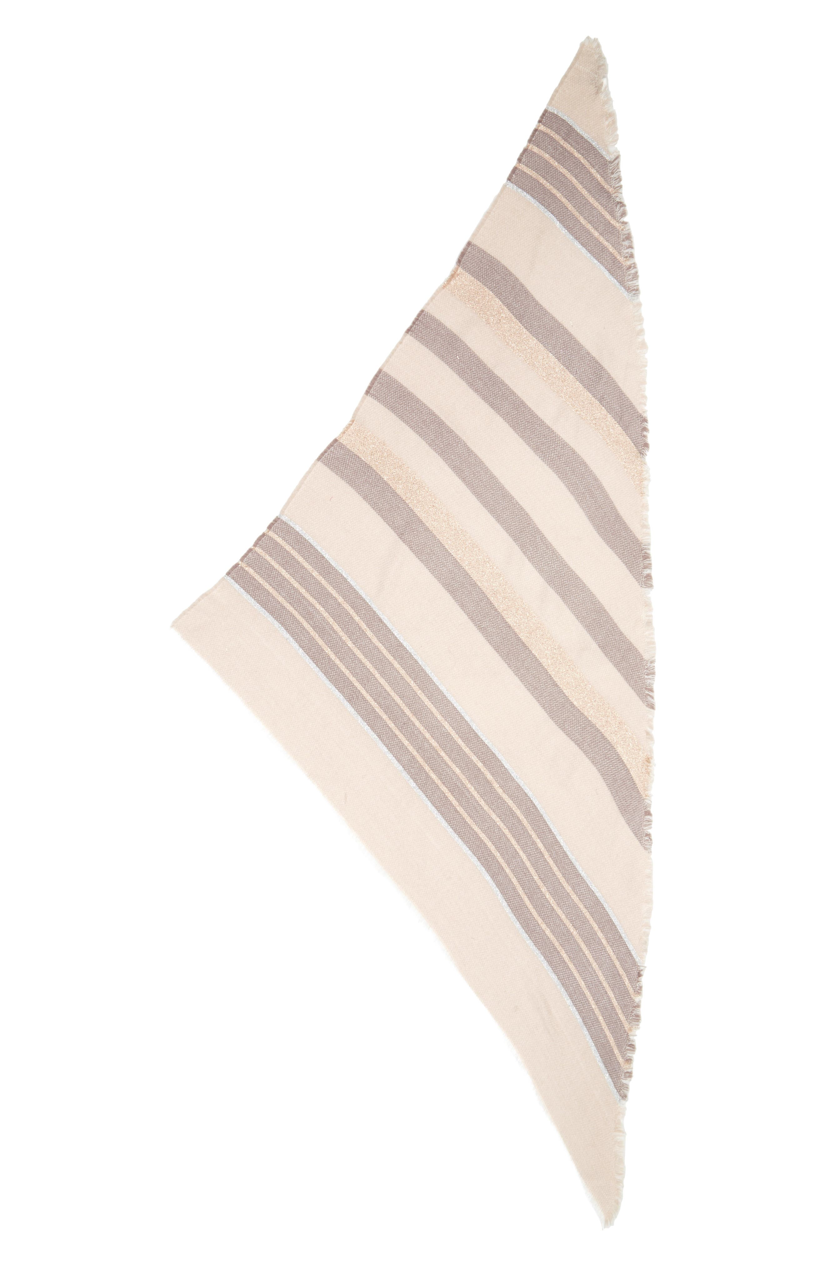 Shimmer Stripe Triangle Scarf,                             Alternate thumbnail 2, color,                             650