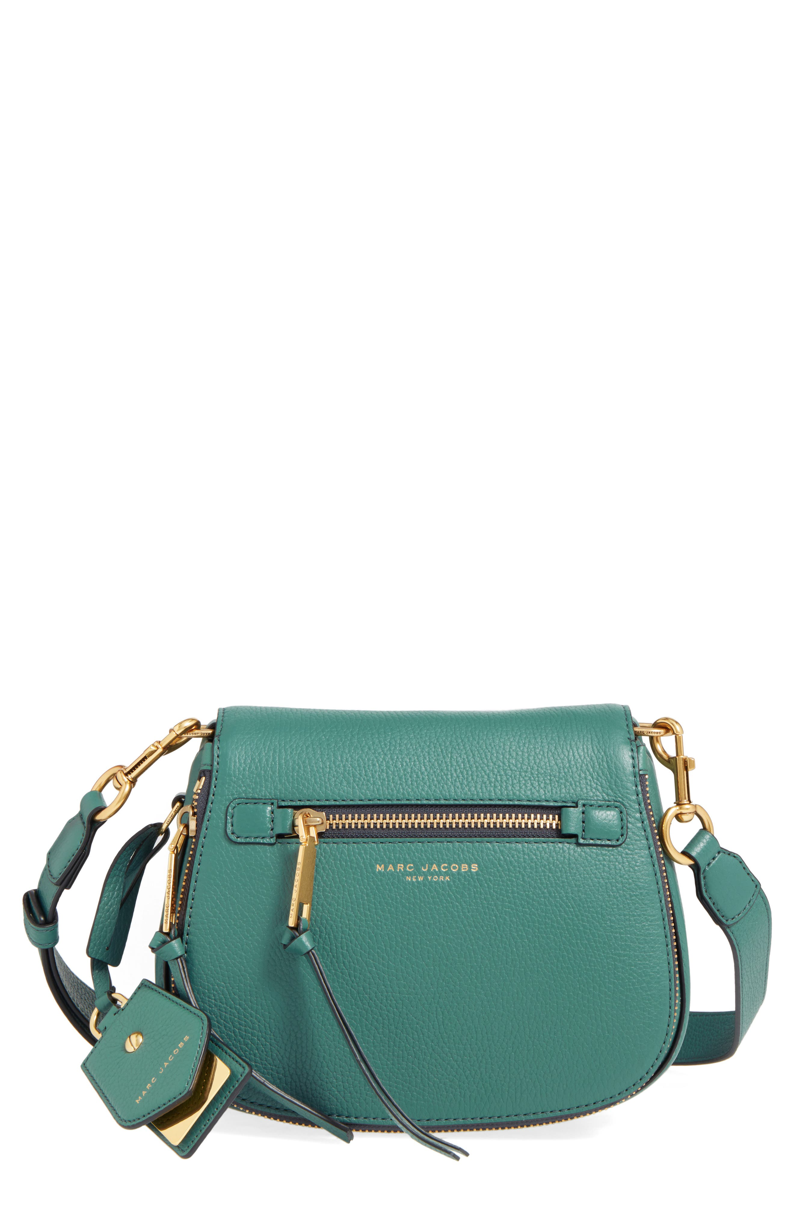 Small Recruit Nomad Pebbled Leather Crossbody Bag,                             Main thumbnail 8, color,