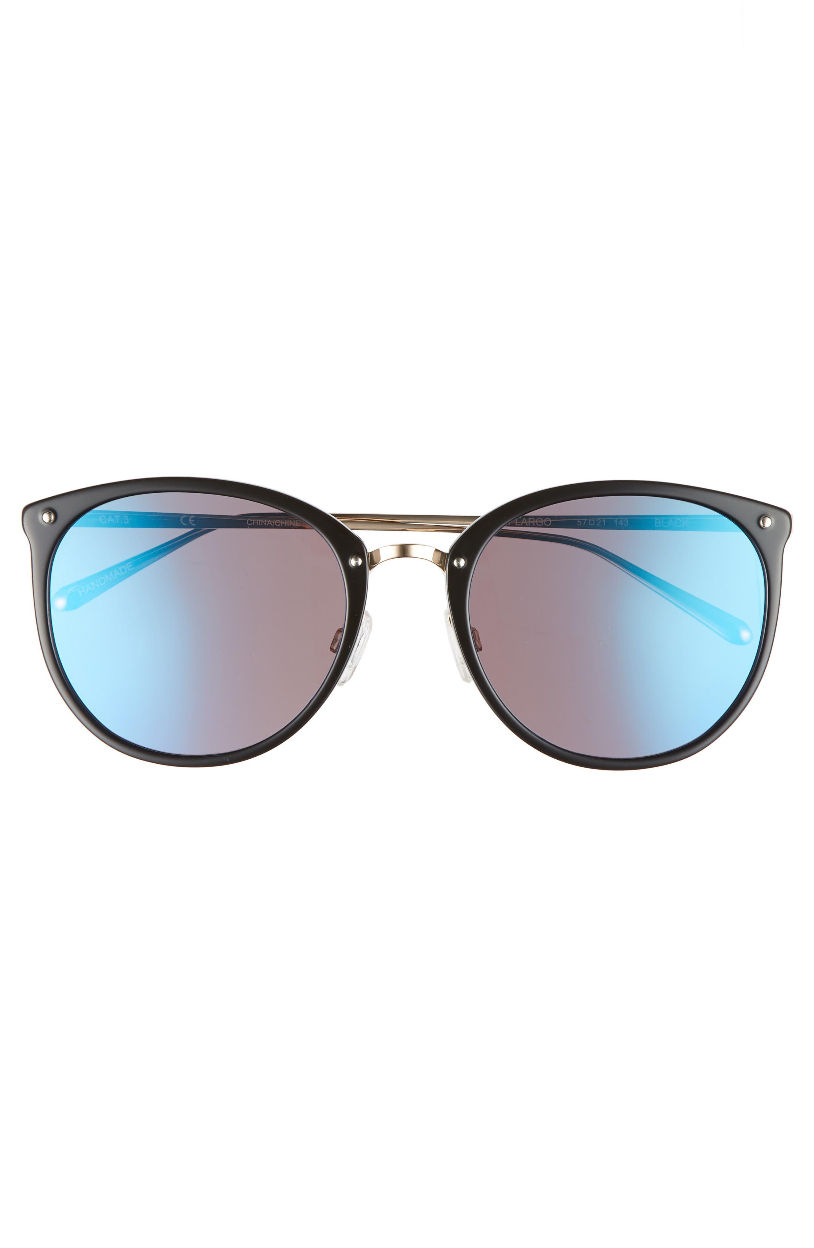 Key Largo 57mm Sunglasses,                             Alternate thumbnail 3, color,                             001