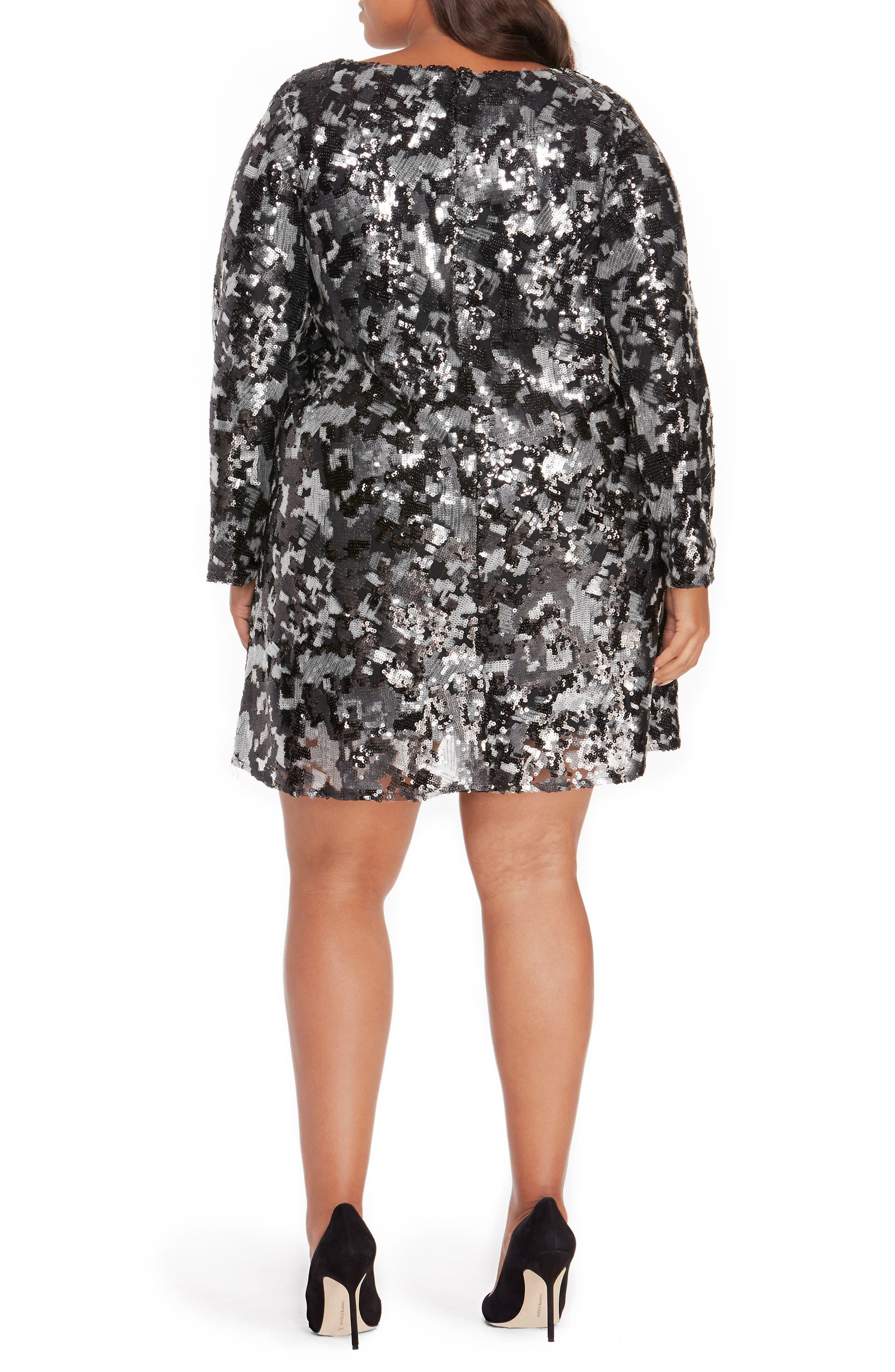 Sequin Dress,                             Alternate thumbnail 2, color,                             009