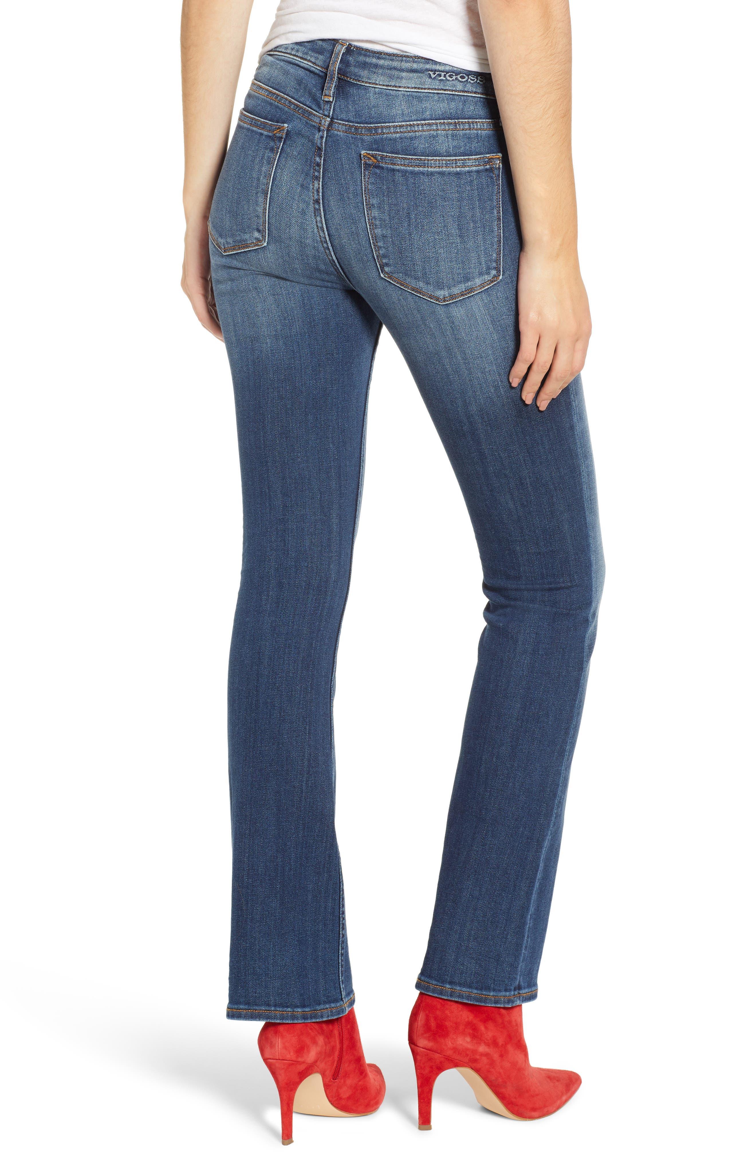 Jagger High Waist Bootcut Jeans,                             Alternate thumbnail 2, color,                             DARK WASH