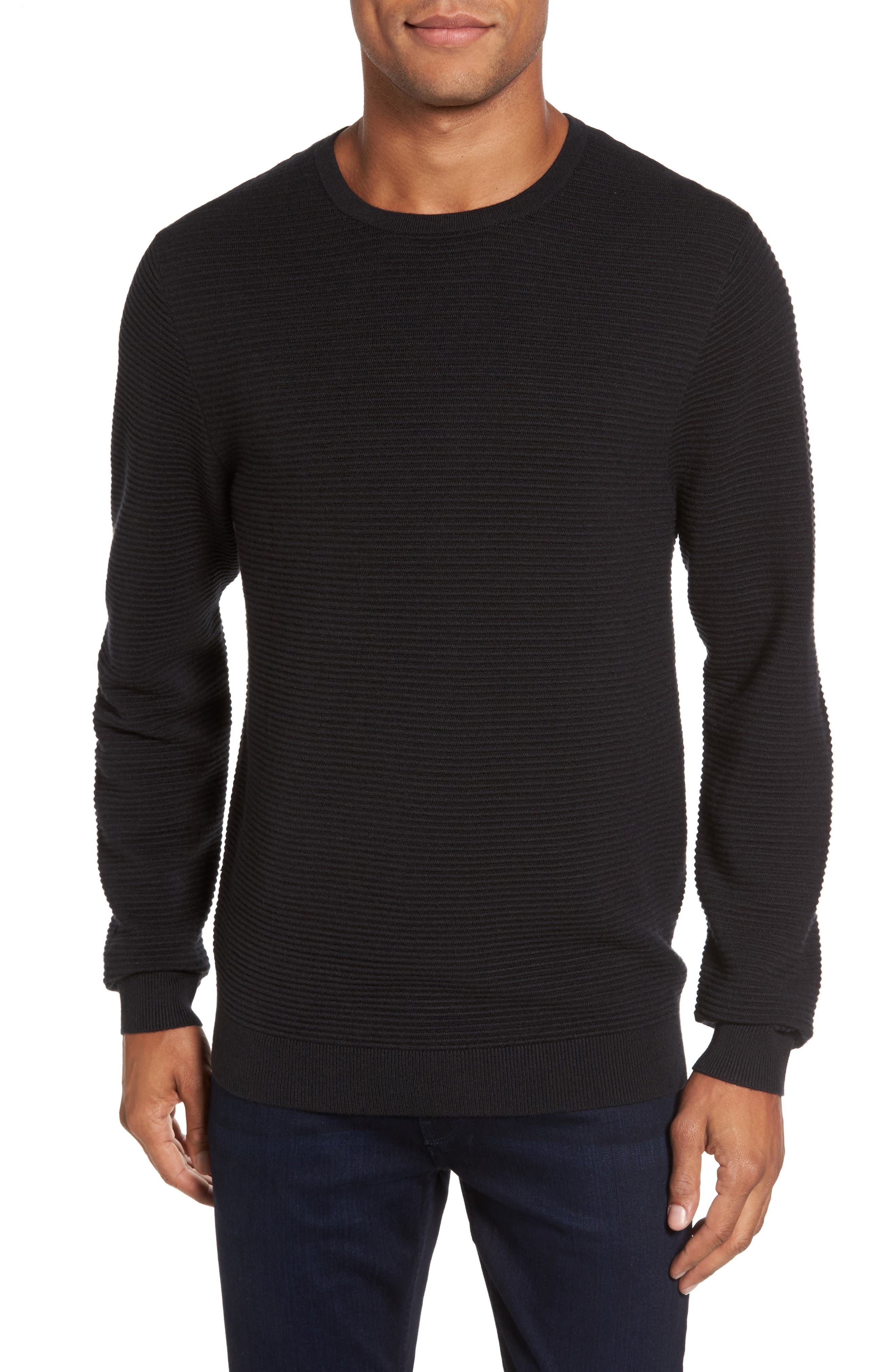 Ottoman Ribbed Crewneck Sweater,                             Main thumbnail 1, color,