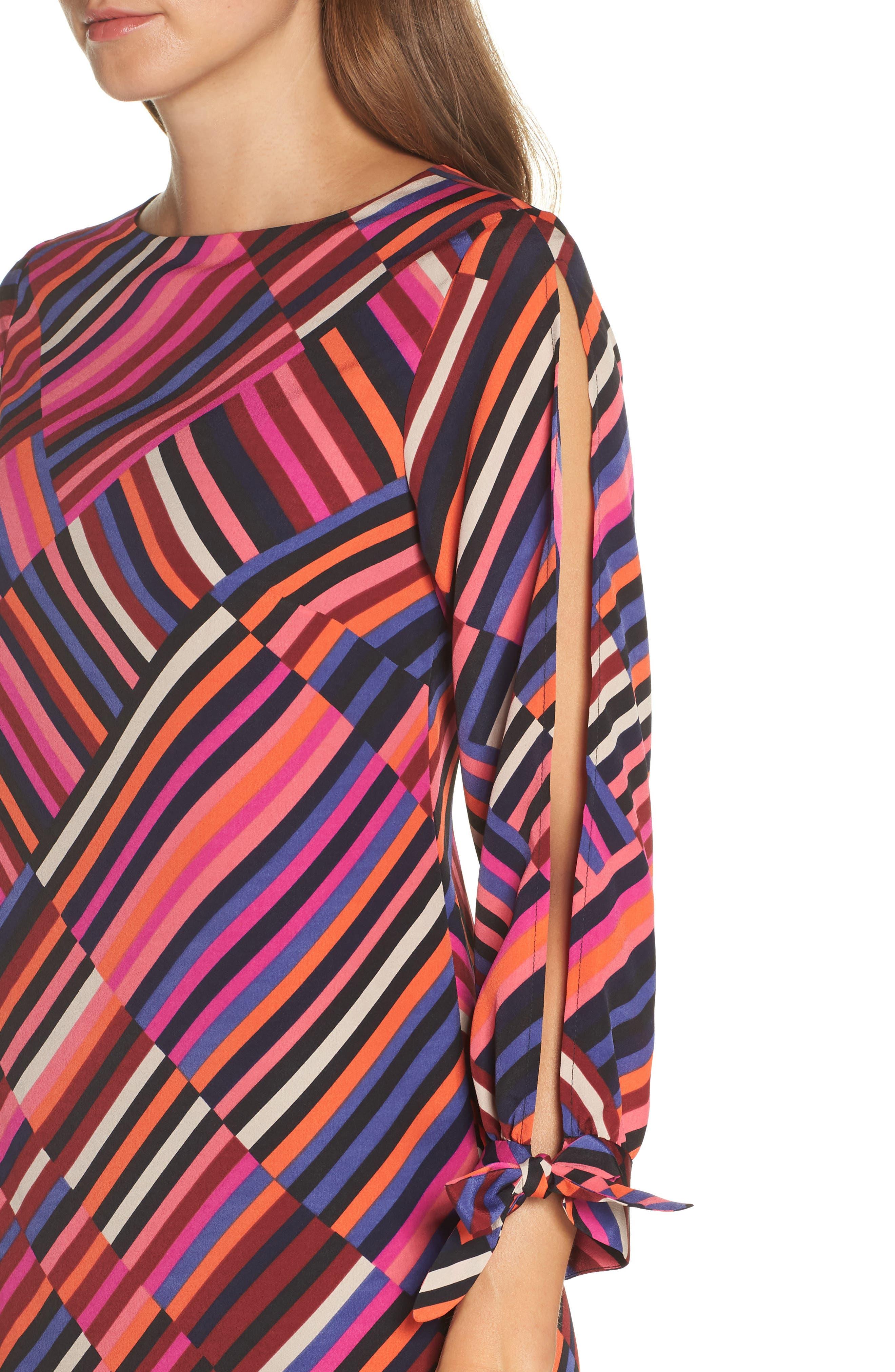 Jaxon Chiffon Dress,                             Alternate thumbnail 4, color,                             MULTI