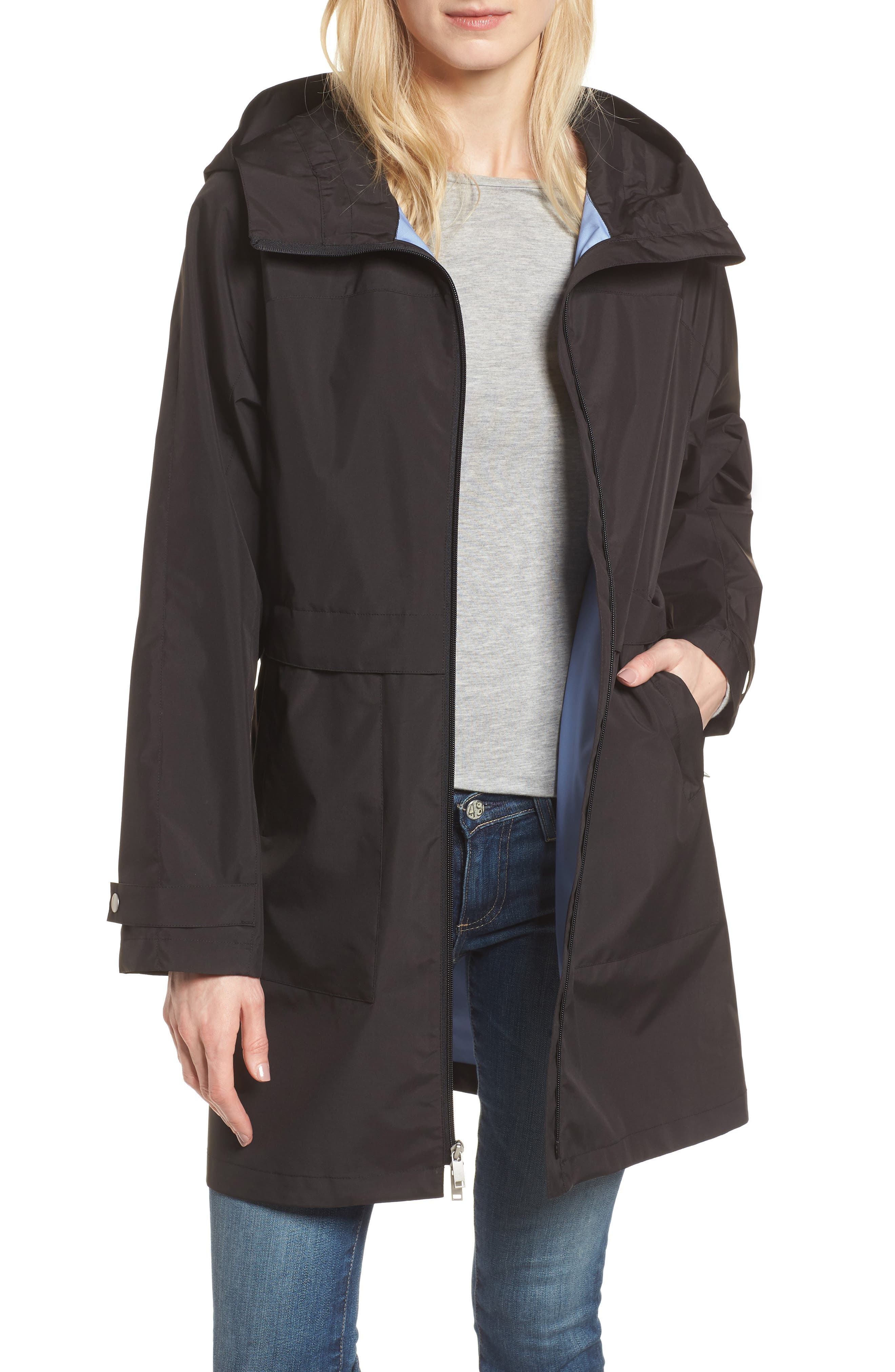 Pearl Cloth Hooded Jacket,                         Main,                         color,