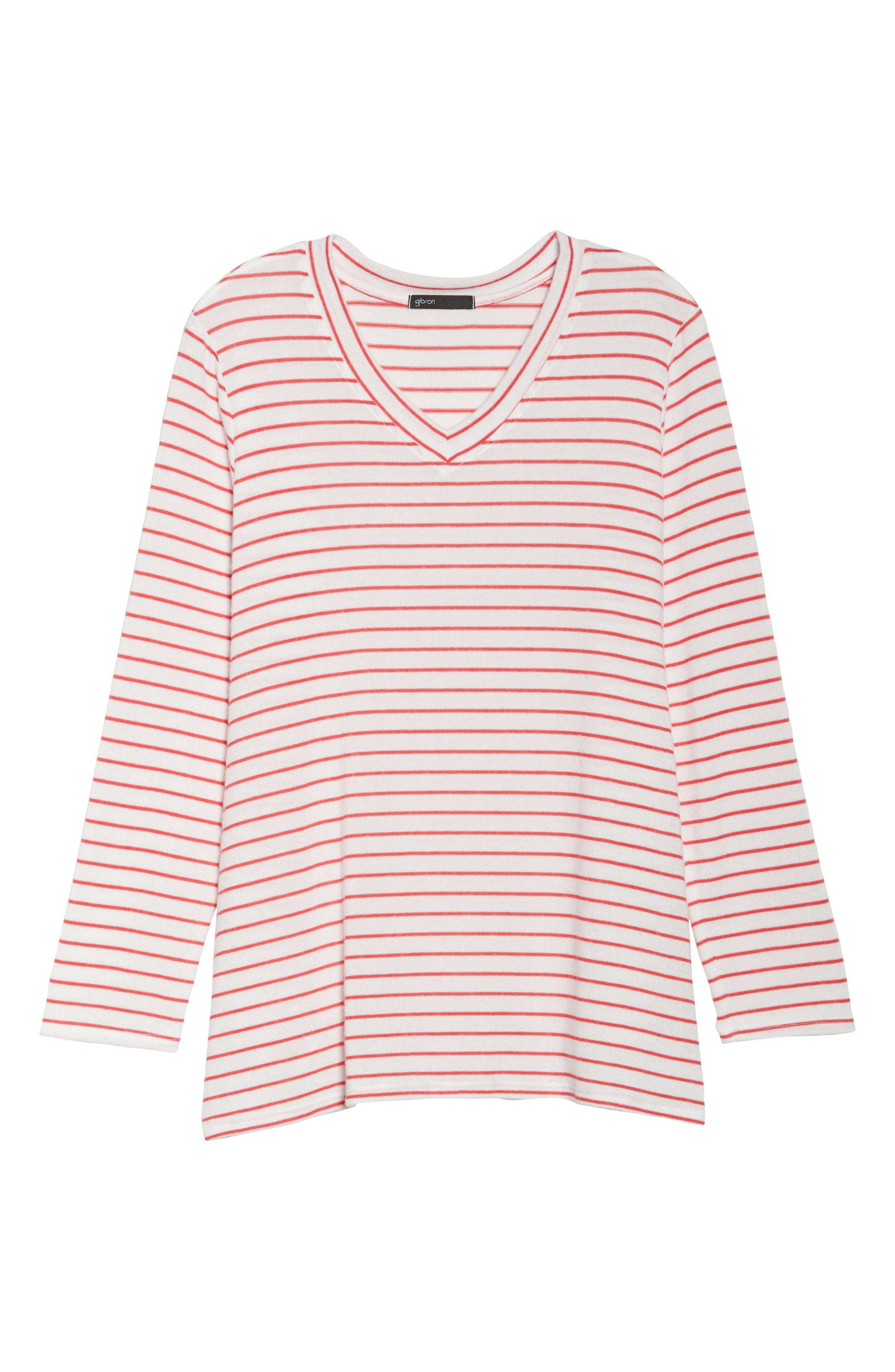 x Living in Yellow Steph Stripe Top,                             Alternate thumbnail 13, color,