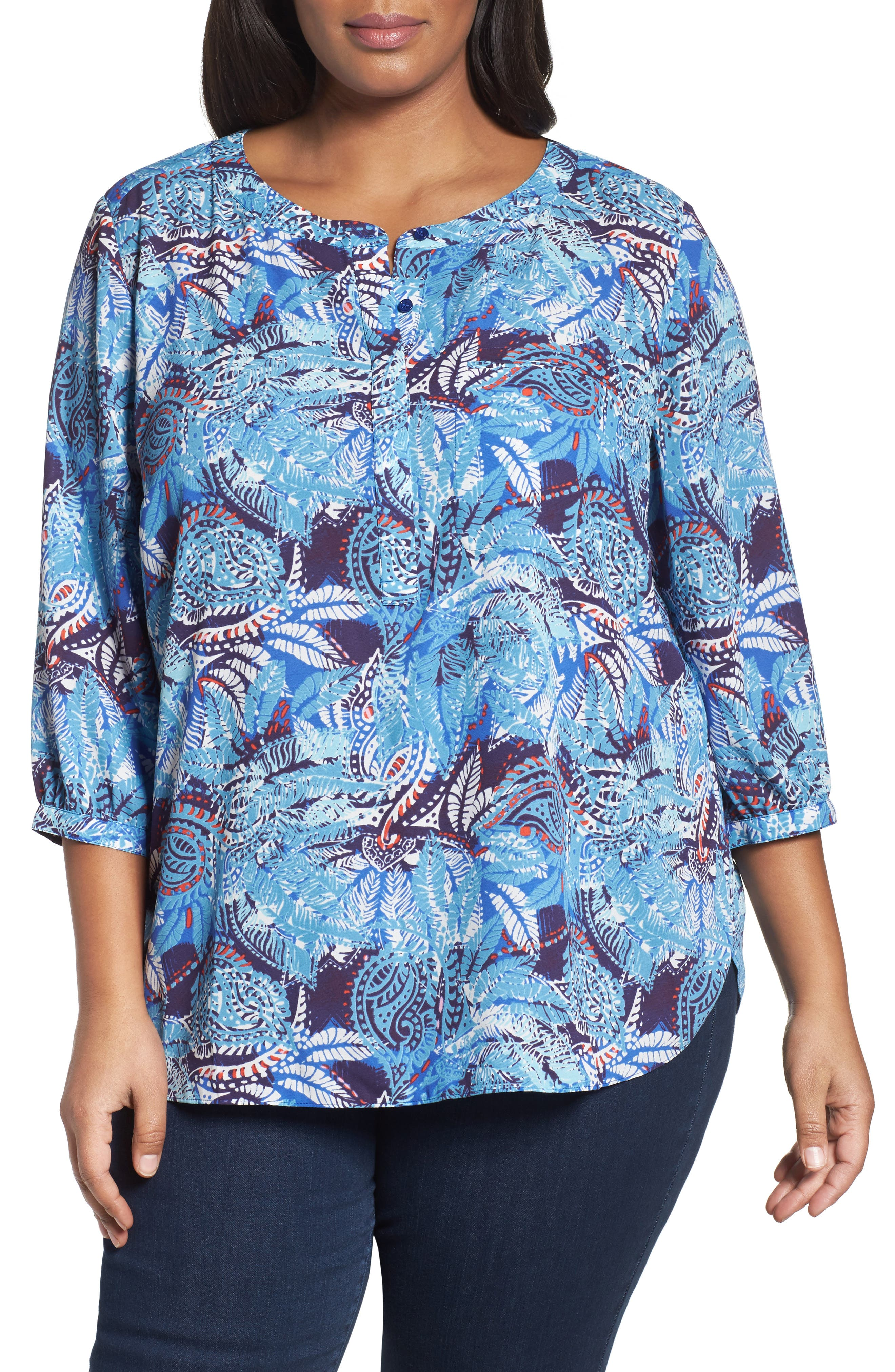 Henley Top,                             Alternate thumbnail 147, color,