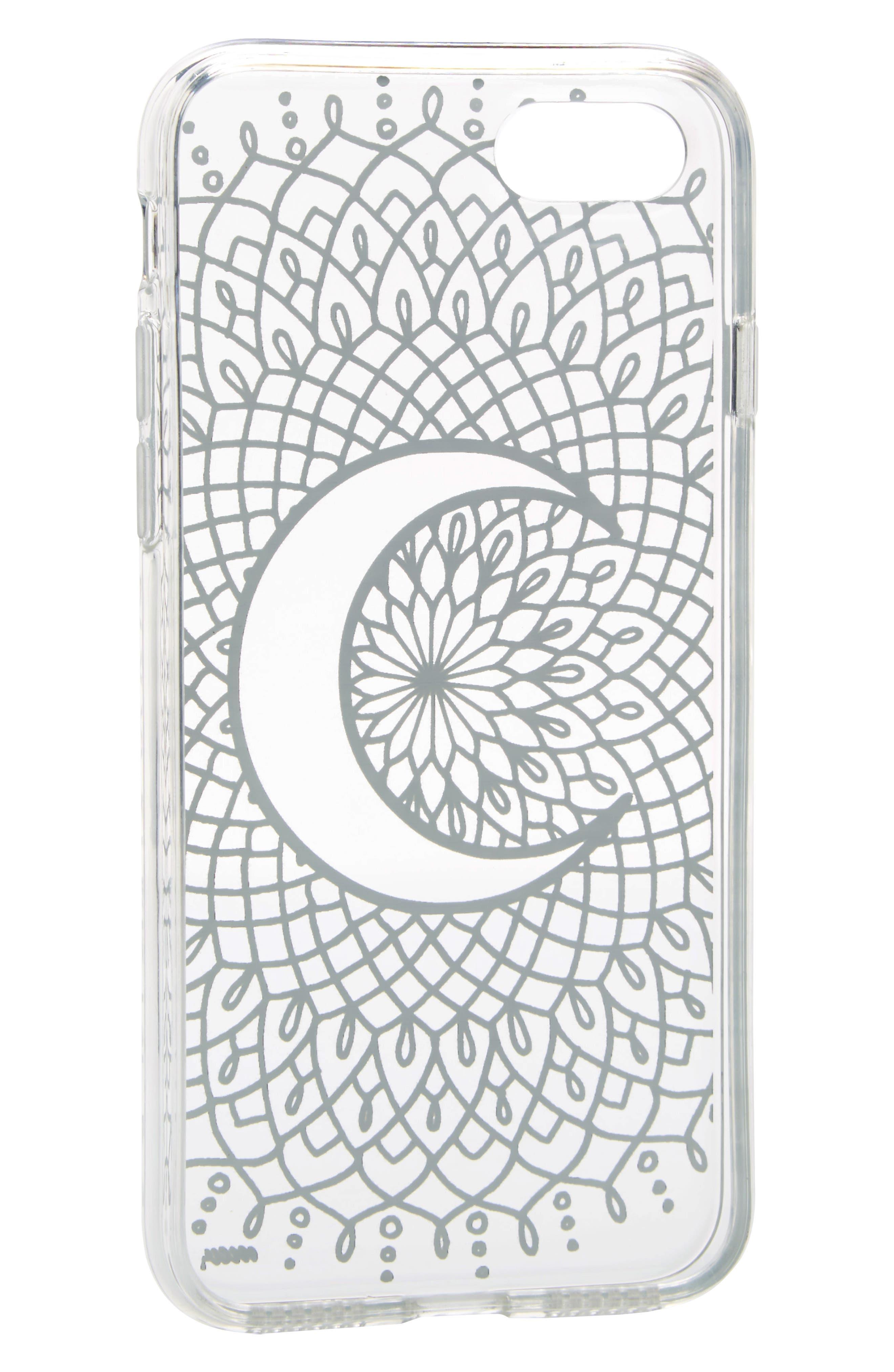 Crescent Moon iPhone 7 Case,                             Alternate thumbnail 2, color,                             001