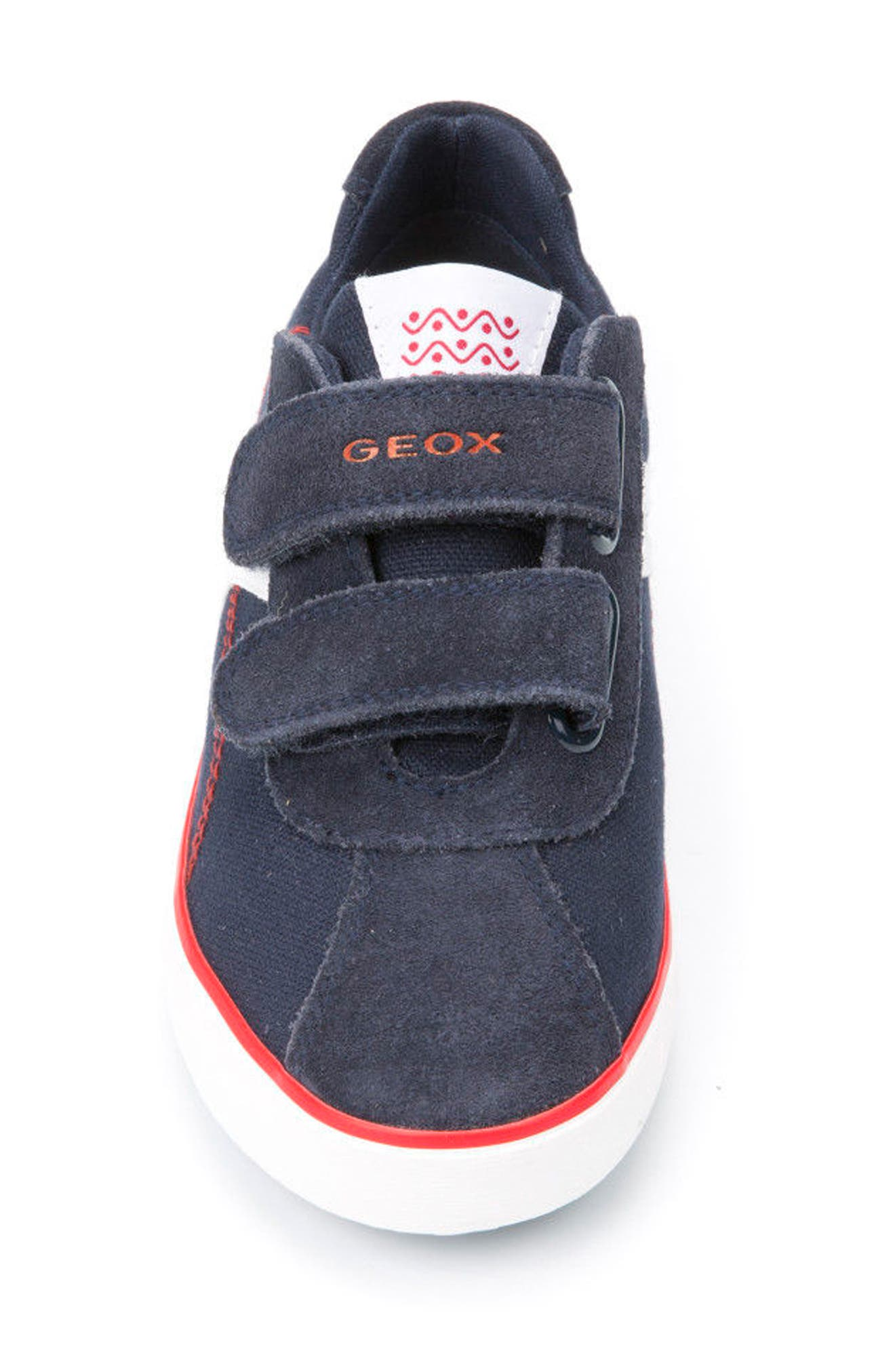 Kilwi Low Top Sneaker,                             Alternate thumbnail 4, color,                             NAVY/ RED