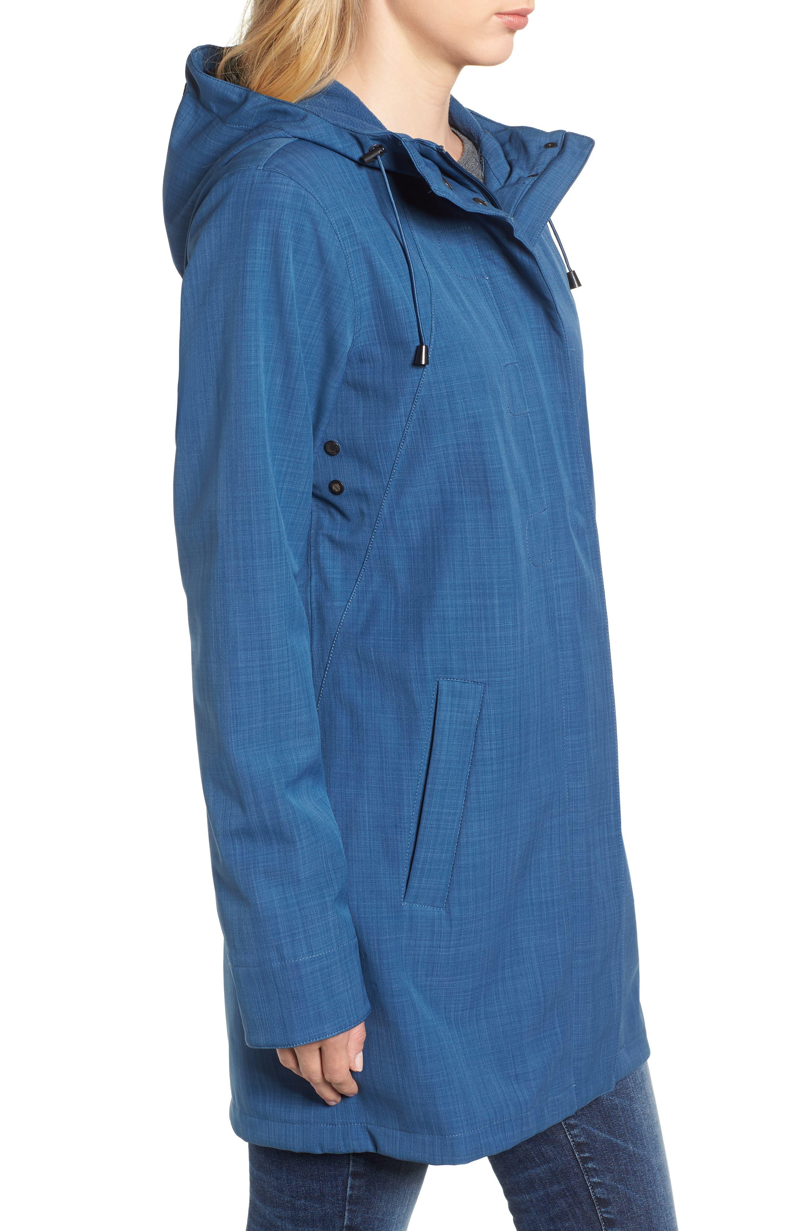 Hooded Raincoat,                             Alternate thumbnail 3, color,                             400
