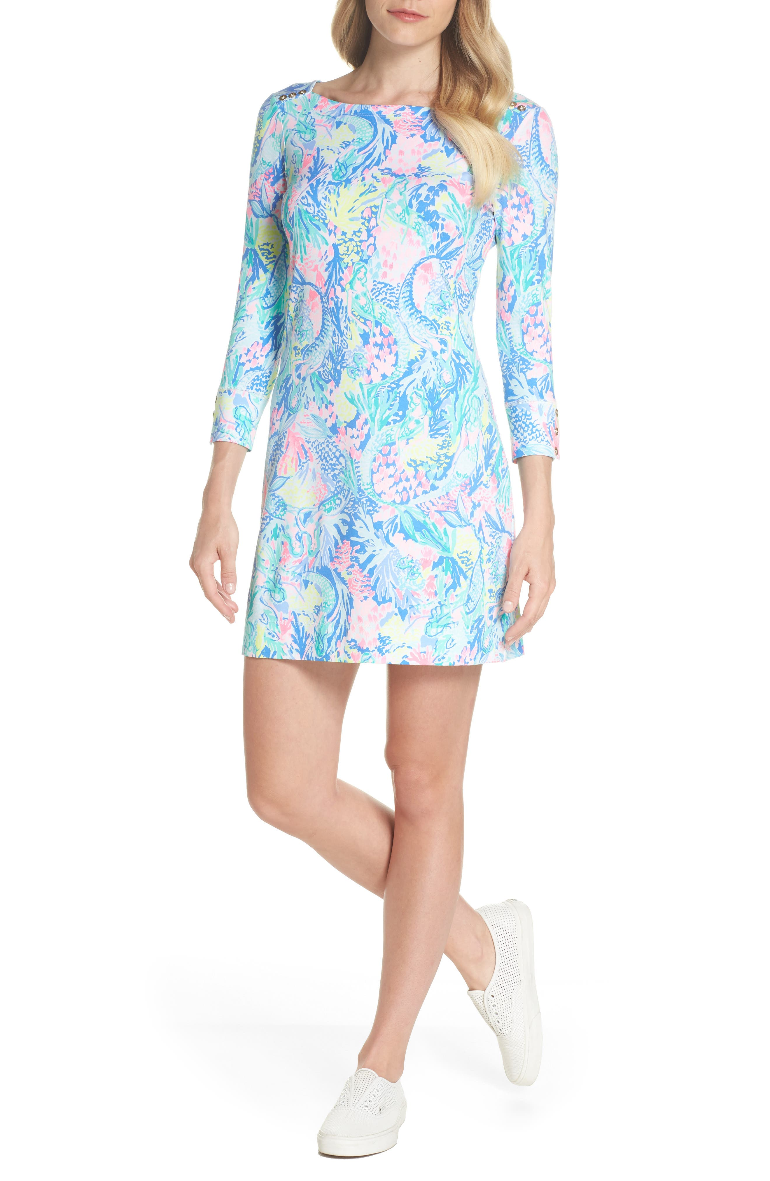 Sophie UPF 50+ Shift Dress,                             Alternate thumbnail 5, color,                             499