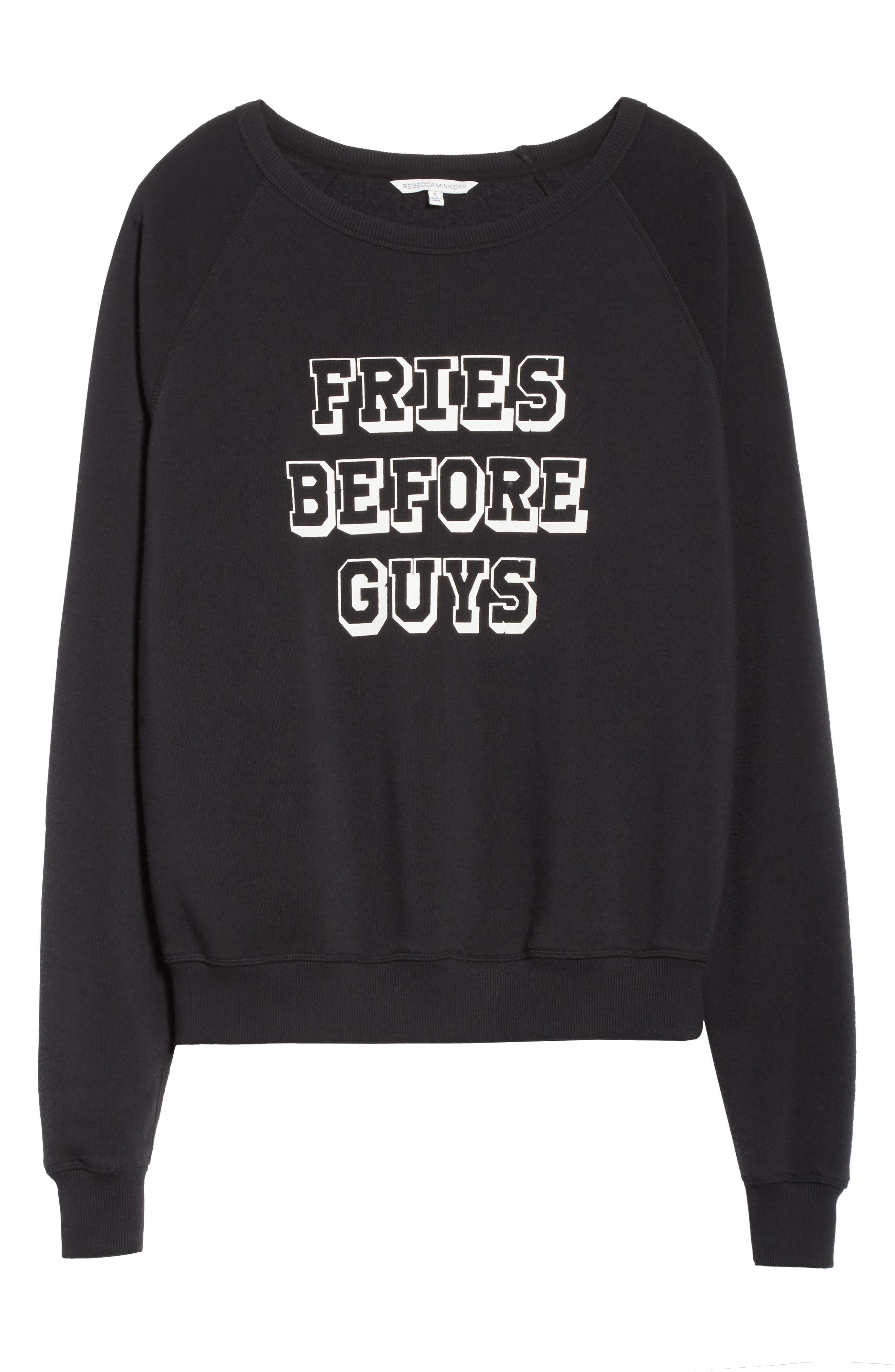 Fries Before Guys Sweatshirt,                             Alternate thumbnail 6, color,                             001