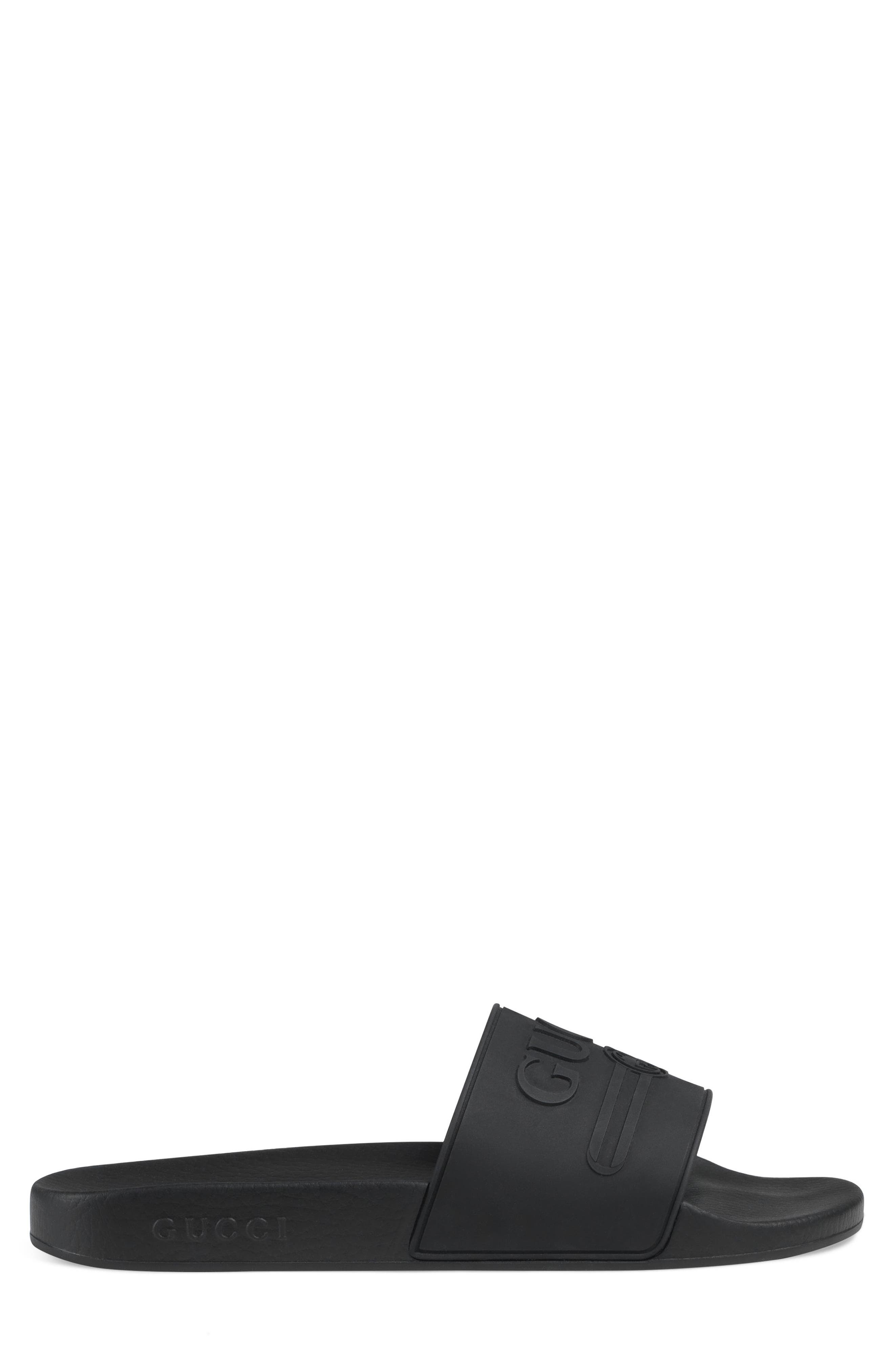 Pursuit Logo Slide Sandal,                             Alternate thumbnail 2, color,                             NERO