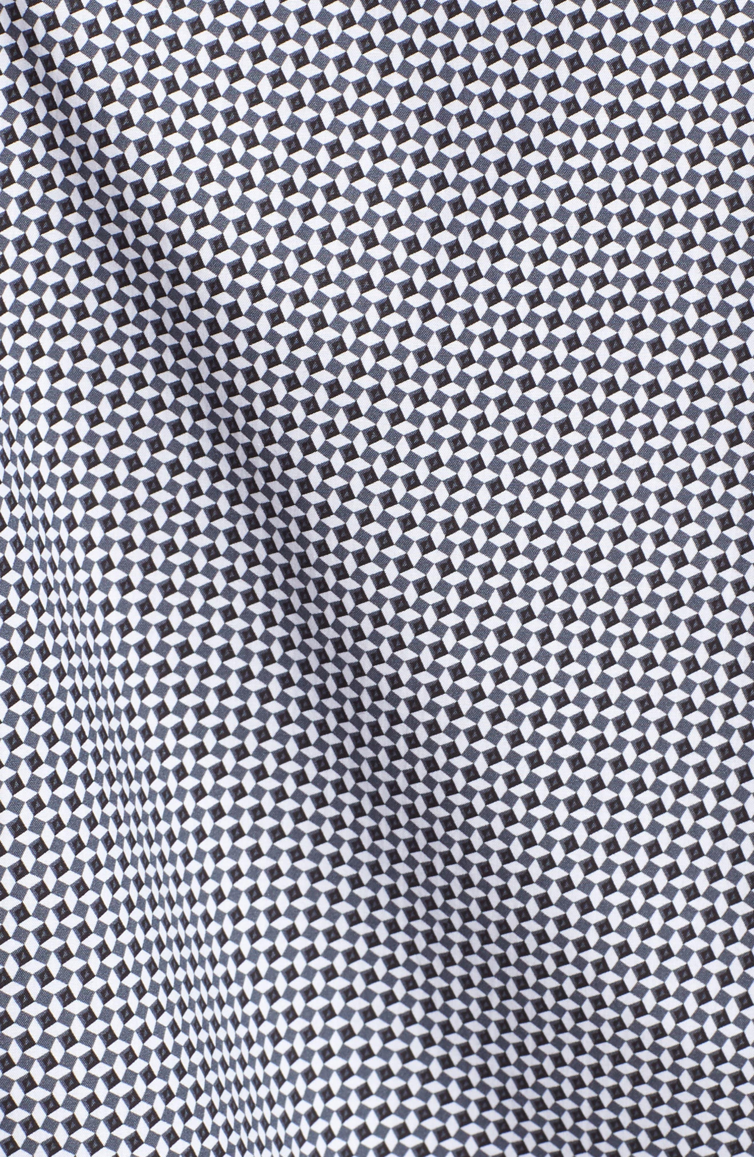 Shaped Fit Diamond Print Sport Shirt,                             Alternate thumbnail 5, color,                             020