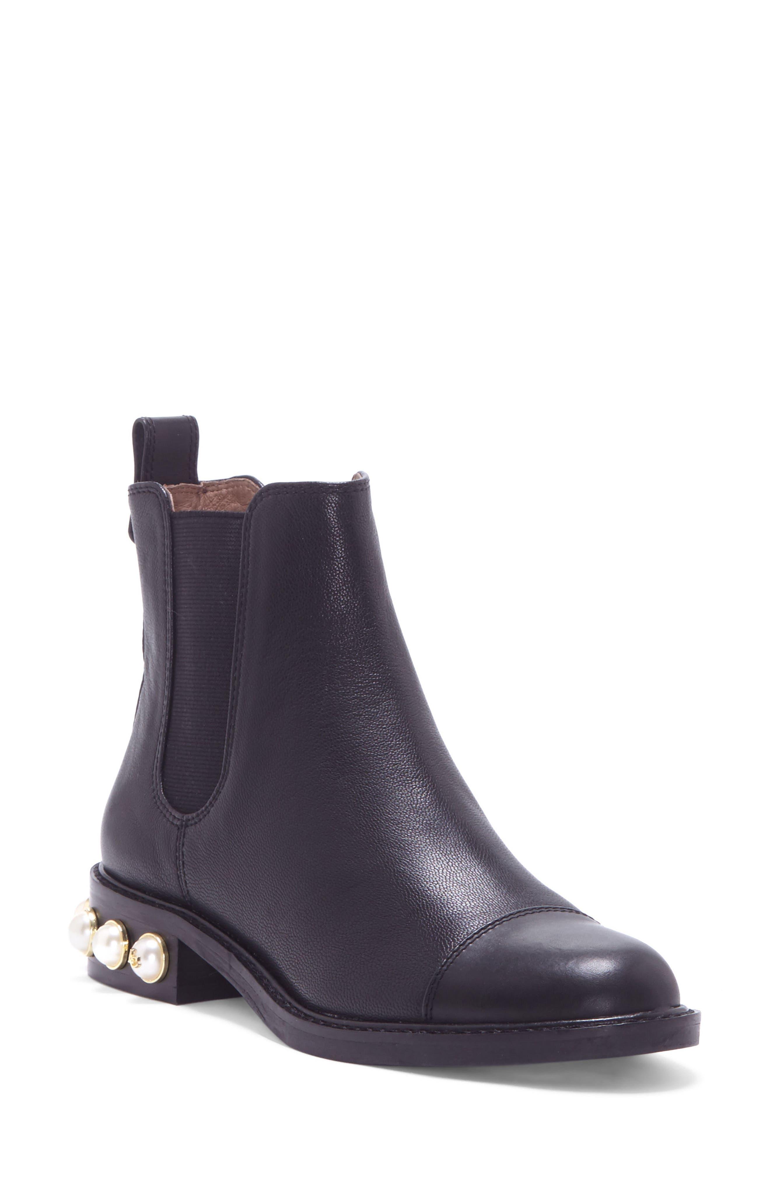 Vinn Imitation Pearl Boot,                         Main,                         color, 001
