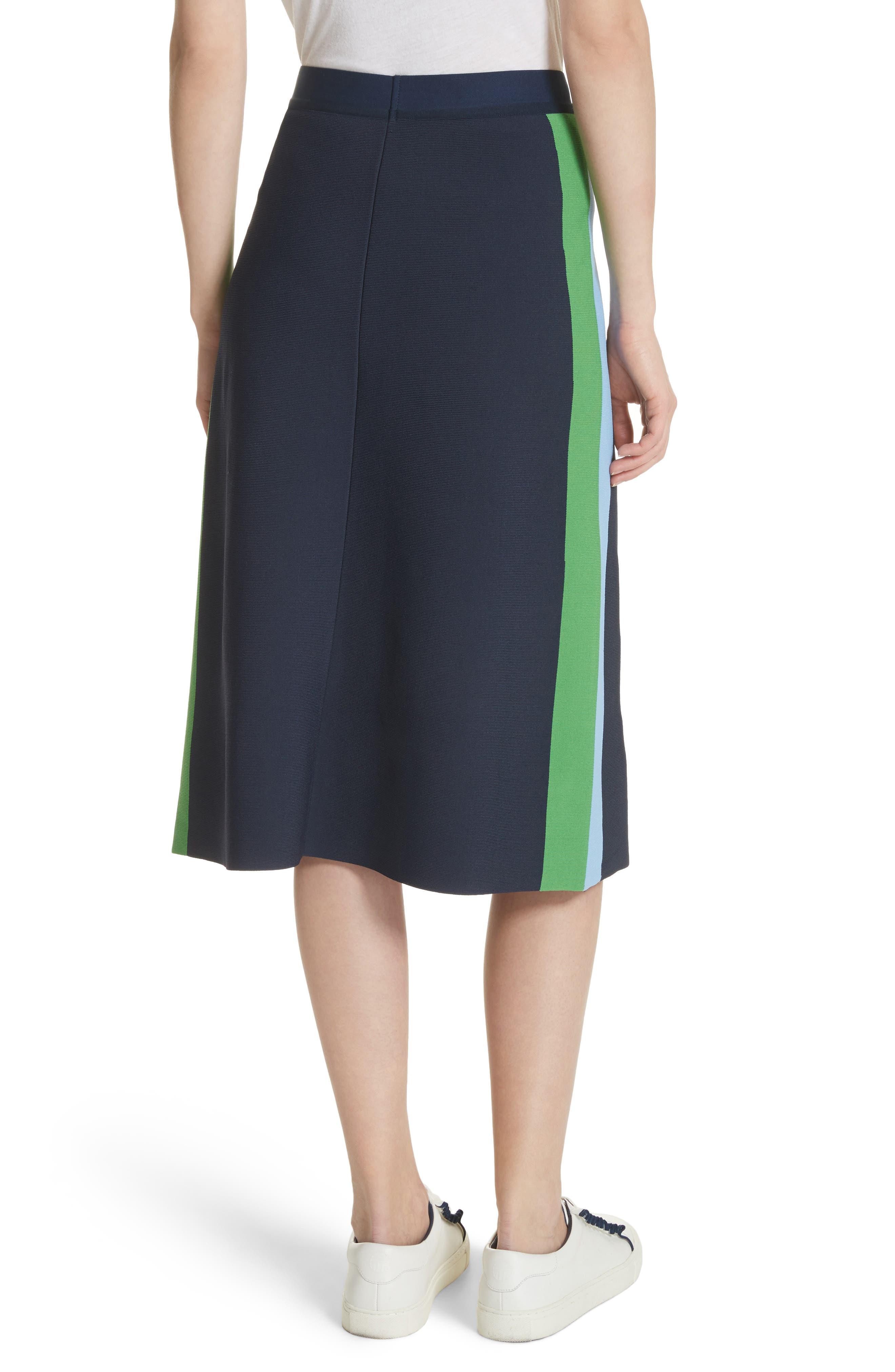 Tech Knit Colorblock Skirt,                             Alternate thumbnail 2, color,                             405