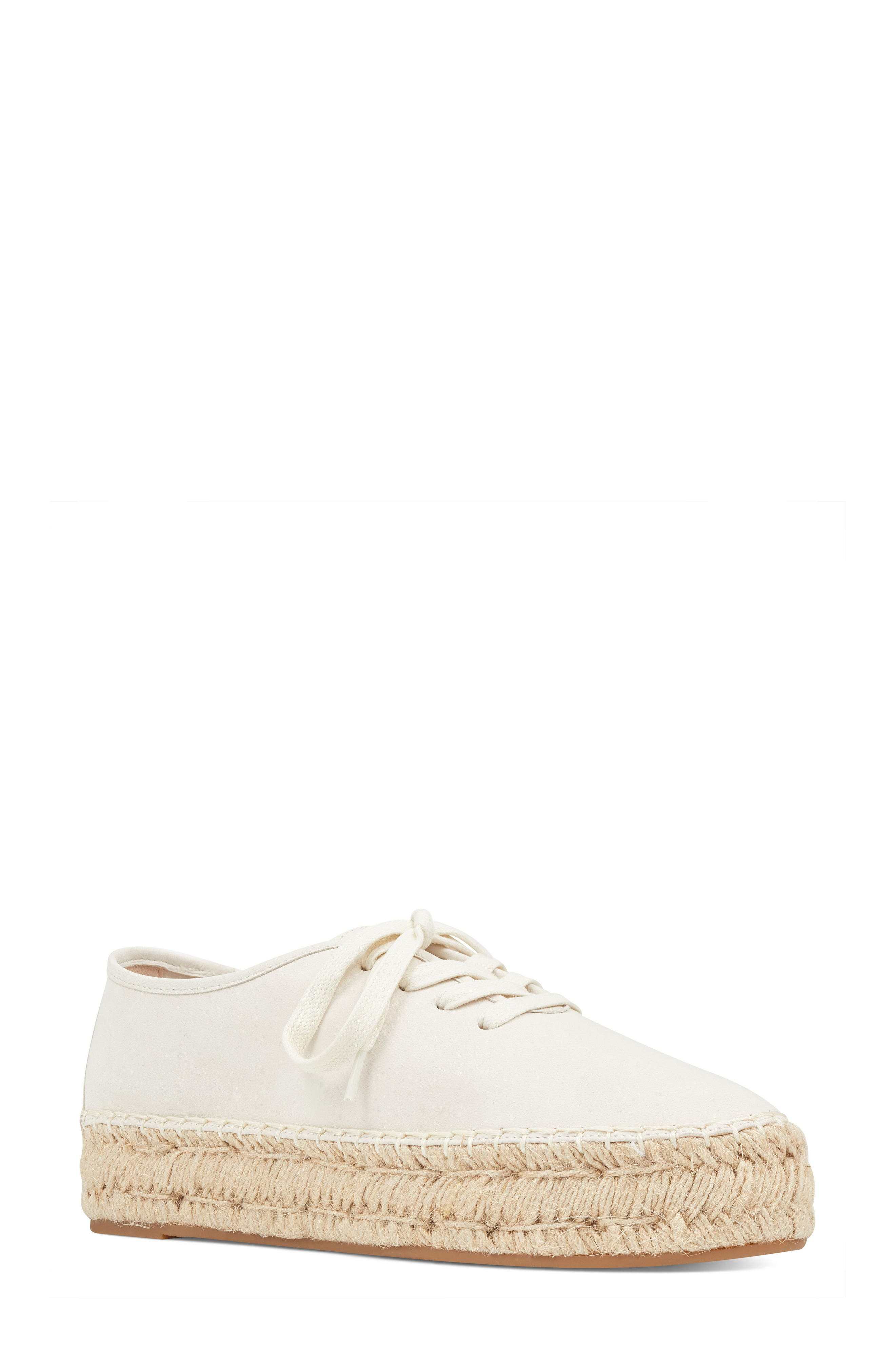 Gingerbread Espadrille Sneaker,                             Main thumbnail 1, color,                             OFF WHITE LEATHER