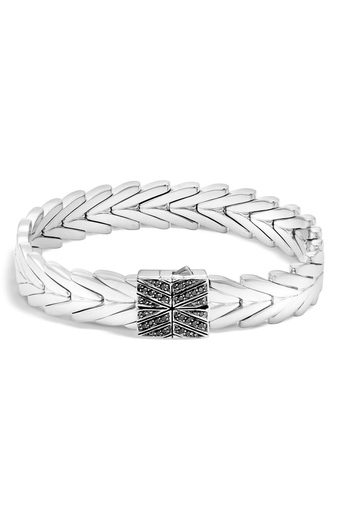 Modern Chain Lava Bracelet,                         Main,                         color, SILVER