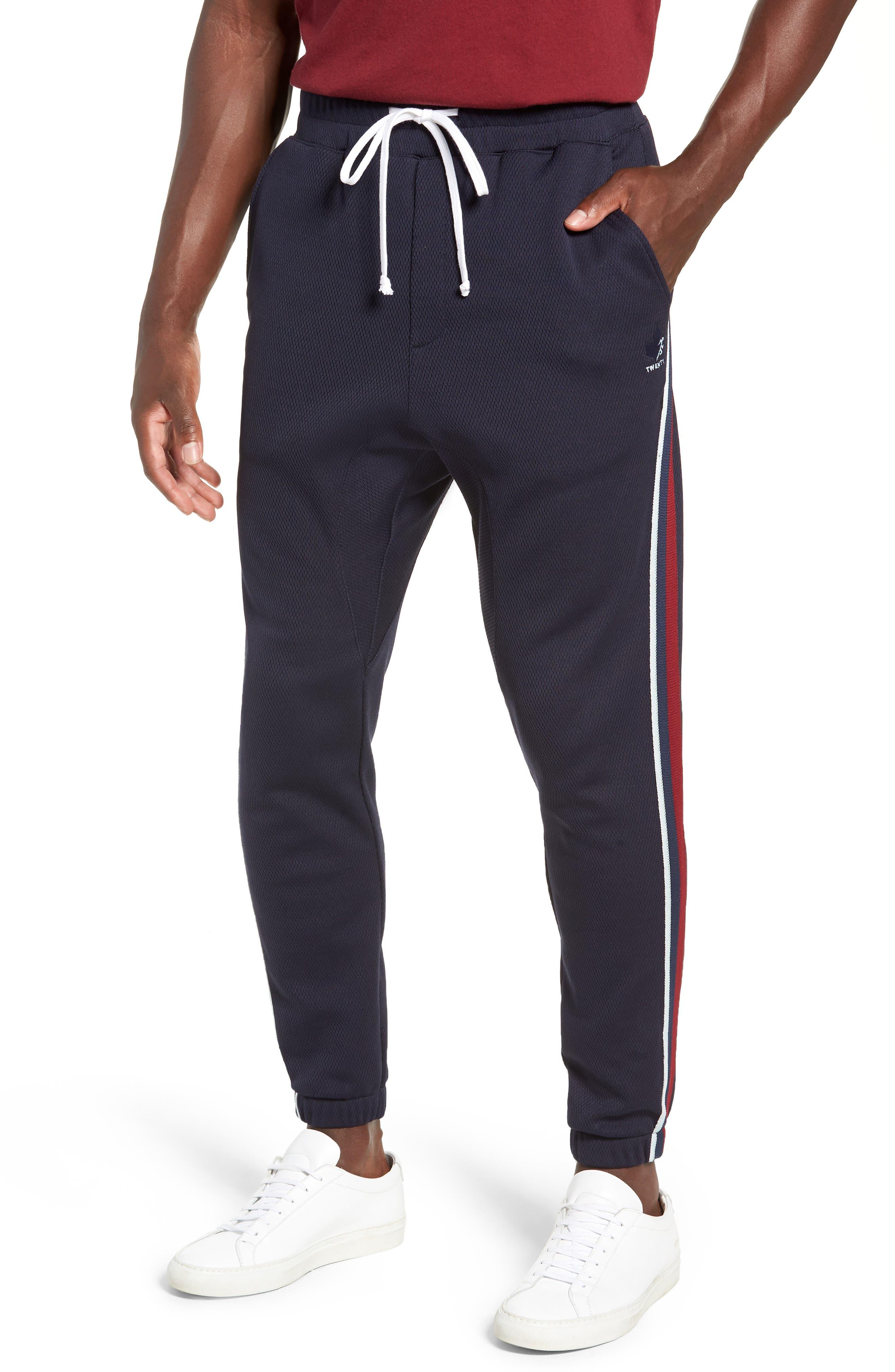 Slim Fit Track Pants,                         Main,                         color, ADMIRAL