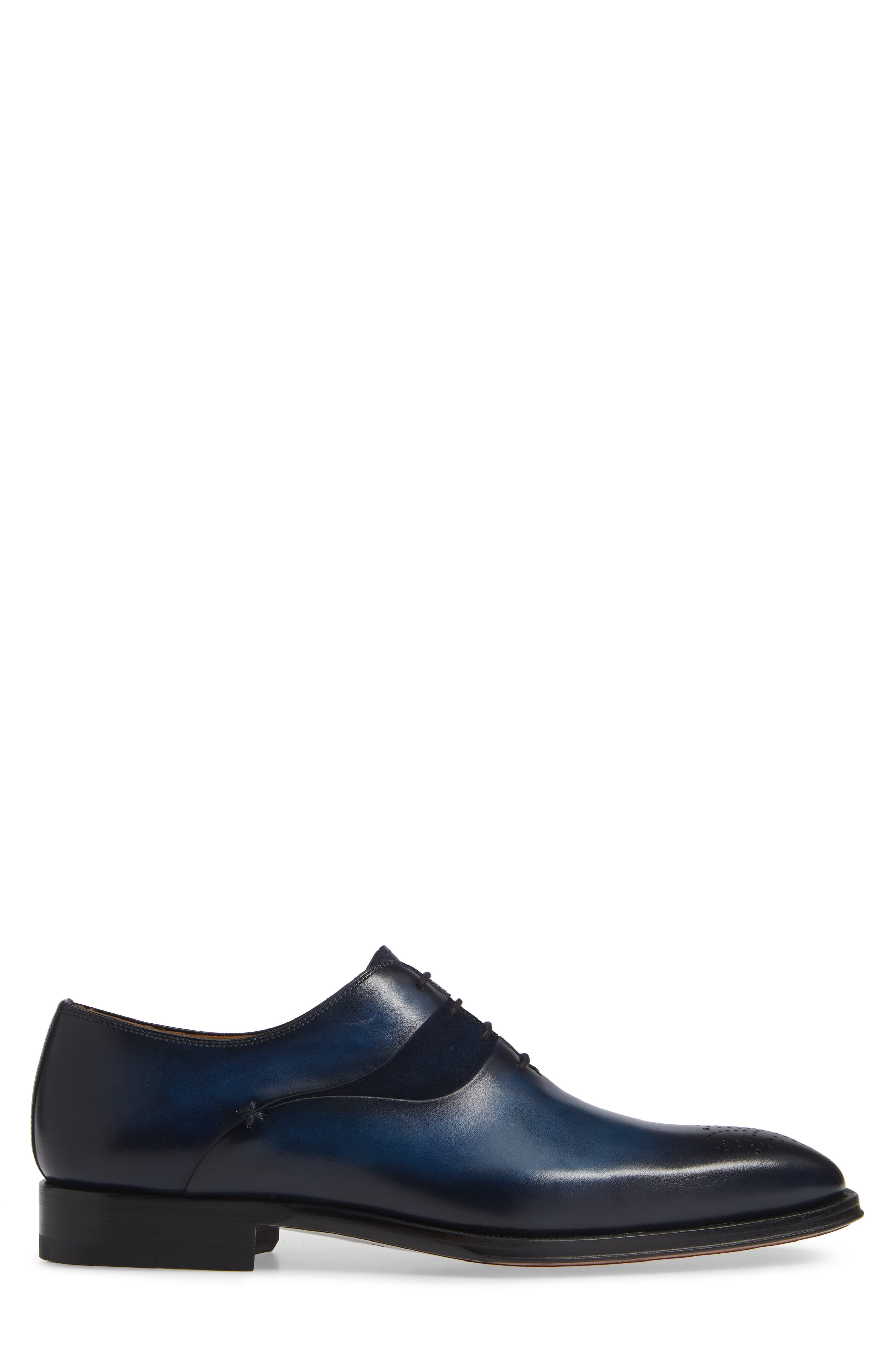 Hector Plain Toe Oxford,                             Alternate thumbnail 3, color,                             NAVY LEATHER