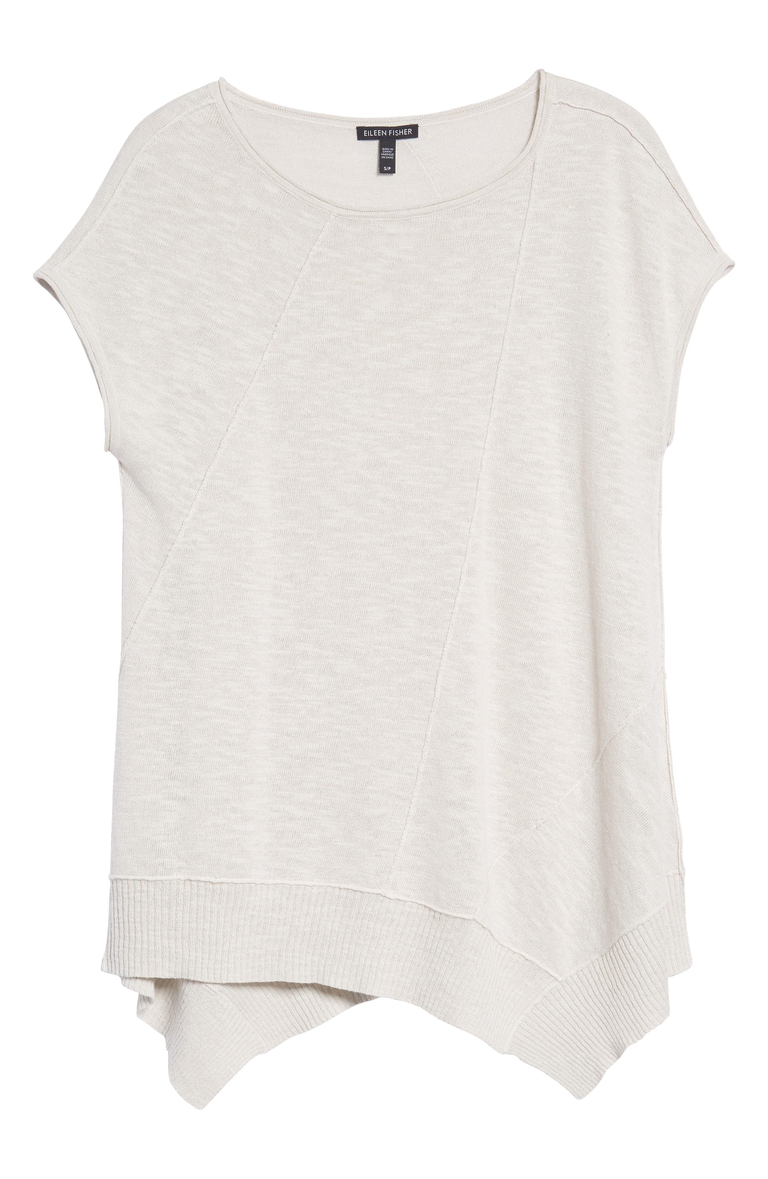 Cap Sleeve Organic Linen & Cotton Scoop Neck Top,                             Alternate thumbnail 73, color,