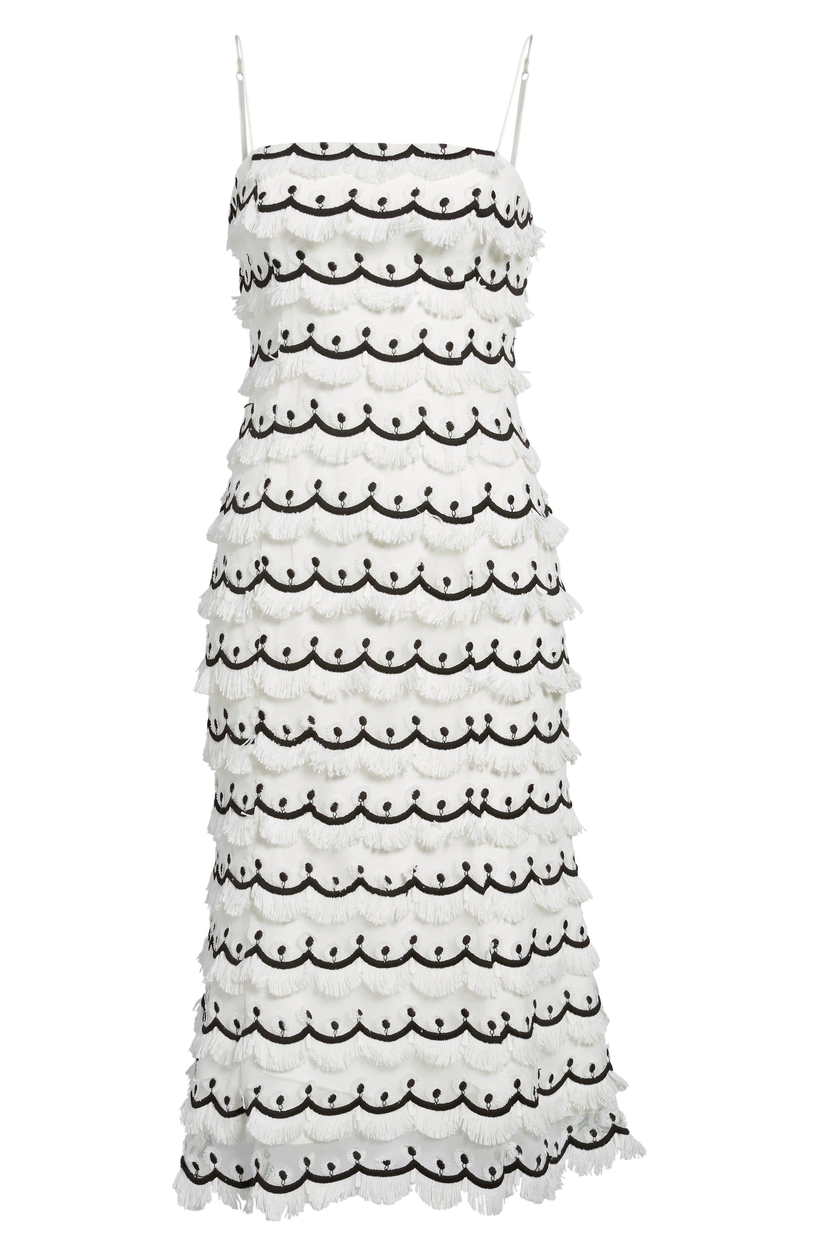 No Promises Fringe Midi Dress,                             Alternate thumbnail 6, color,                             900