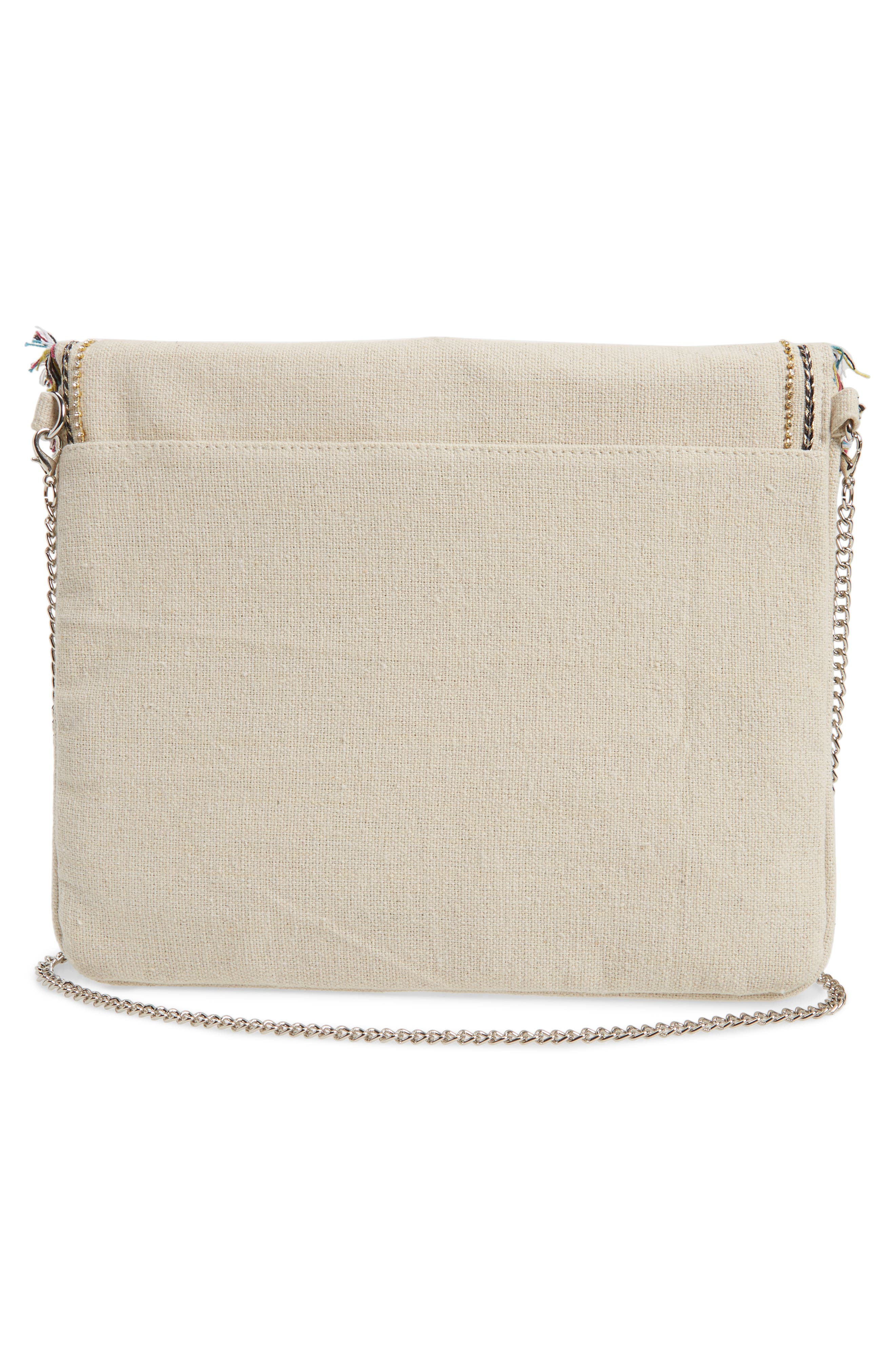 Bird Appliqué Oversize Envelope Clutch,                             Alternate thumbnail 3, color,                             250