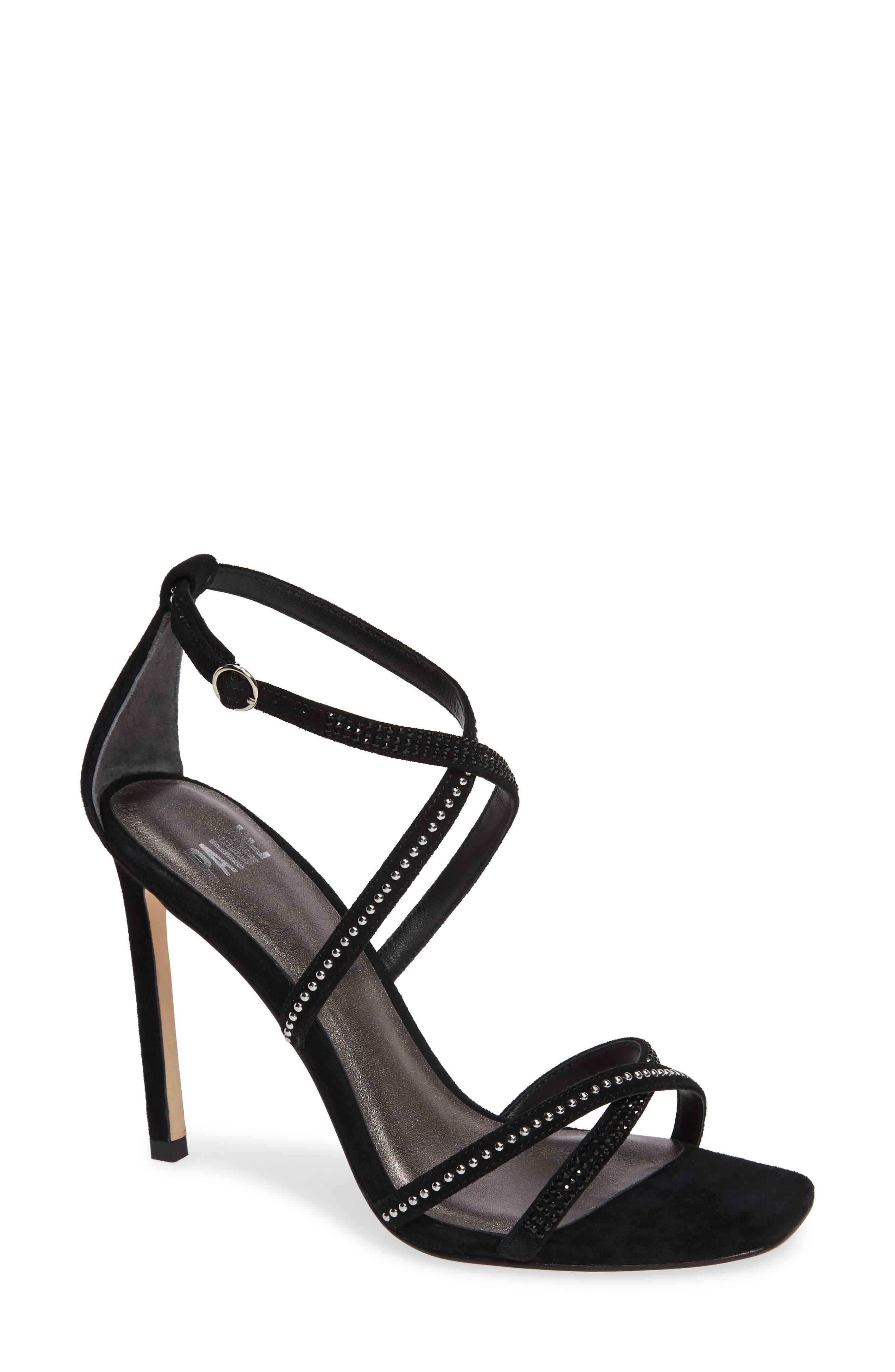 Paige Vera Genuine Snakeskin Sandal- Black