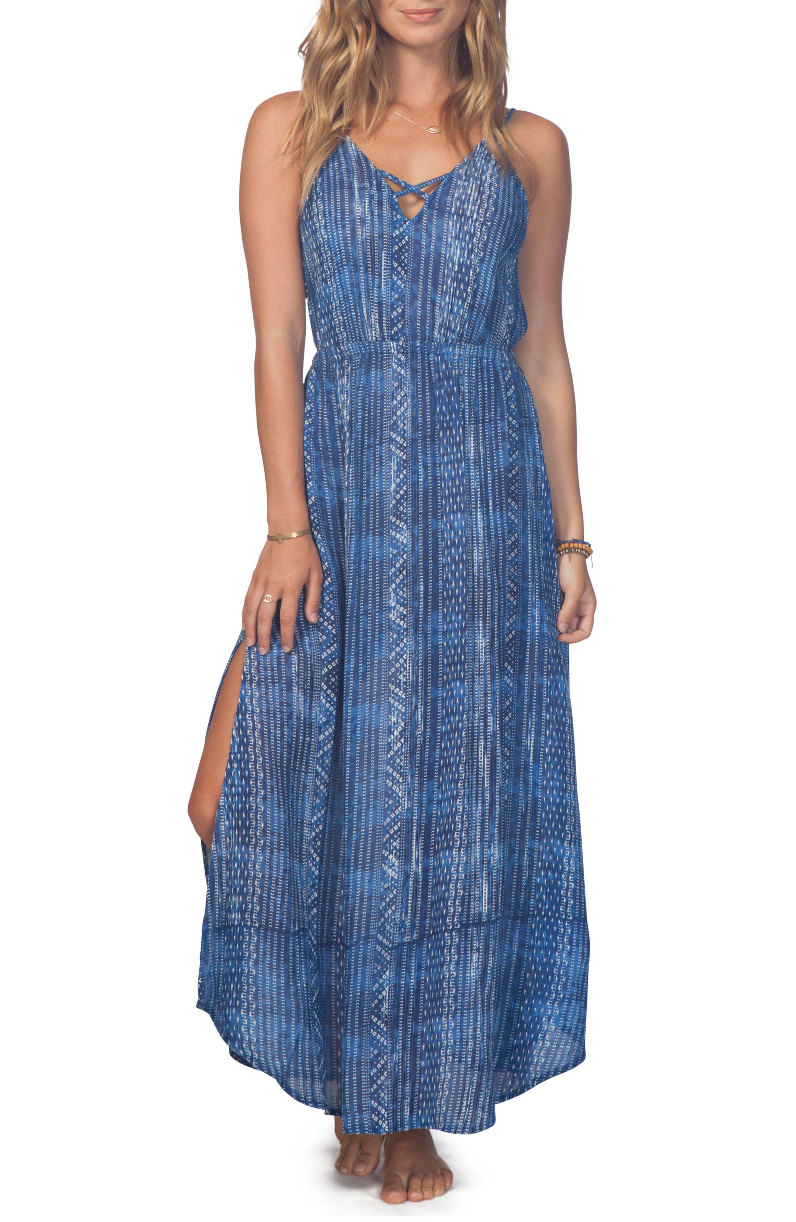 Blue Tides Maxi Dress,                         Main,                         color, 400