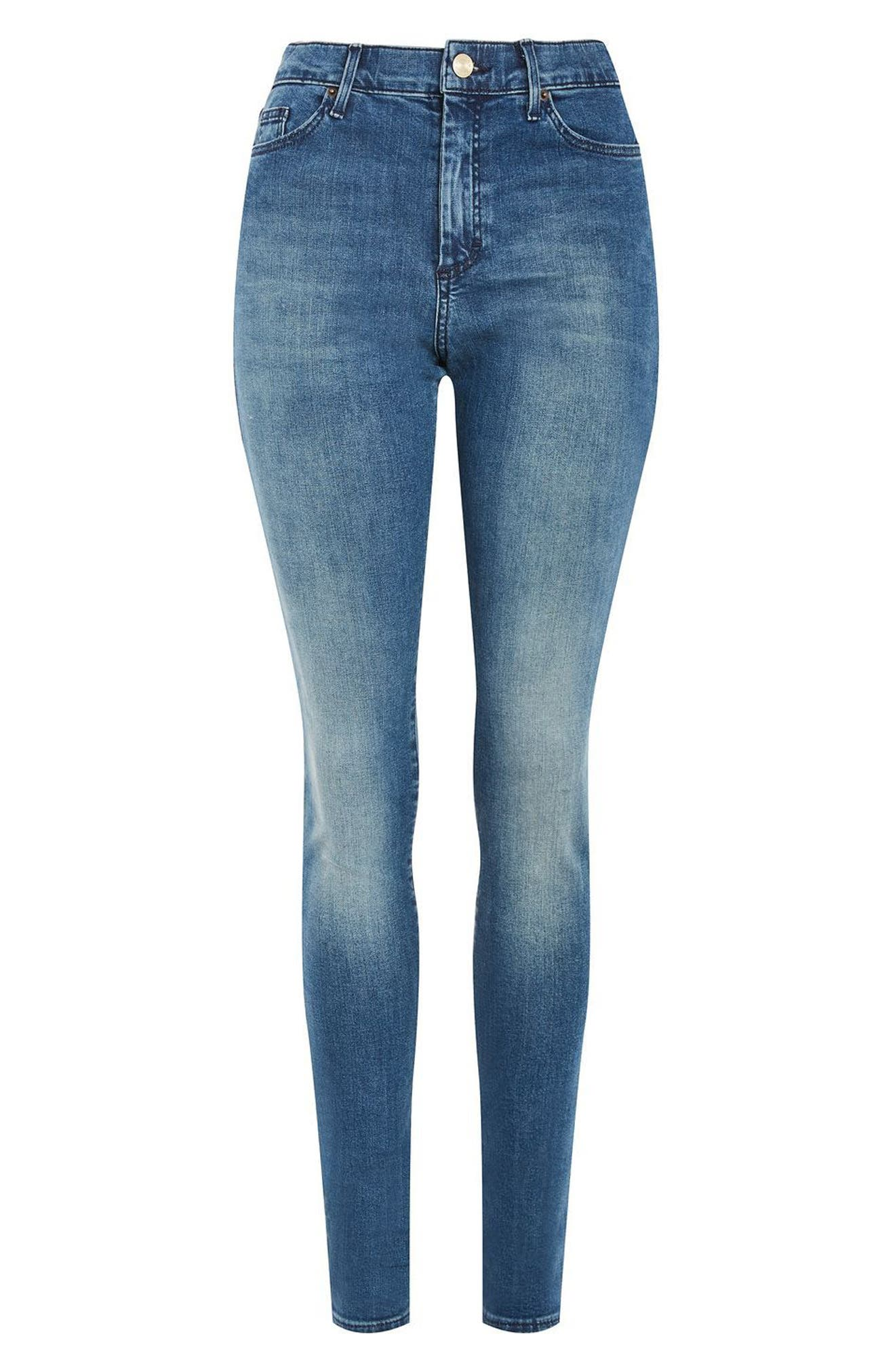 Leigh Skinny Jeans,                             Alternate thumbnail 4, color,                             400