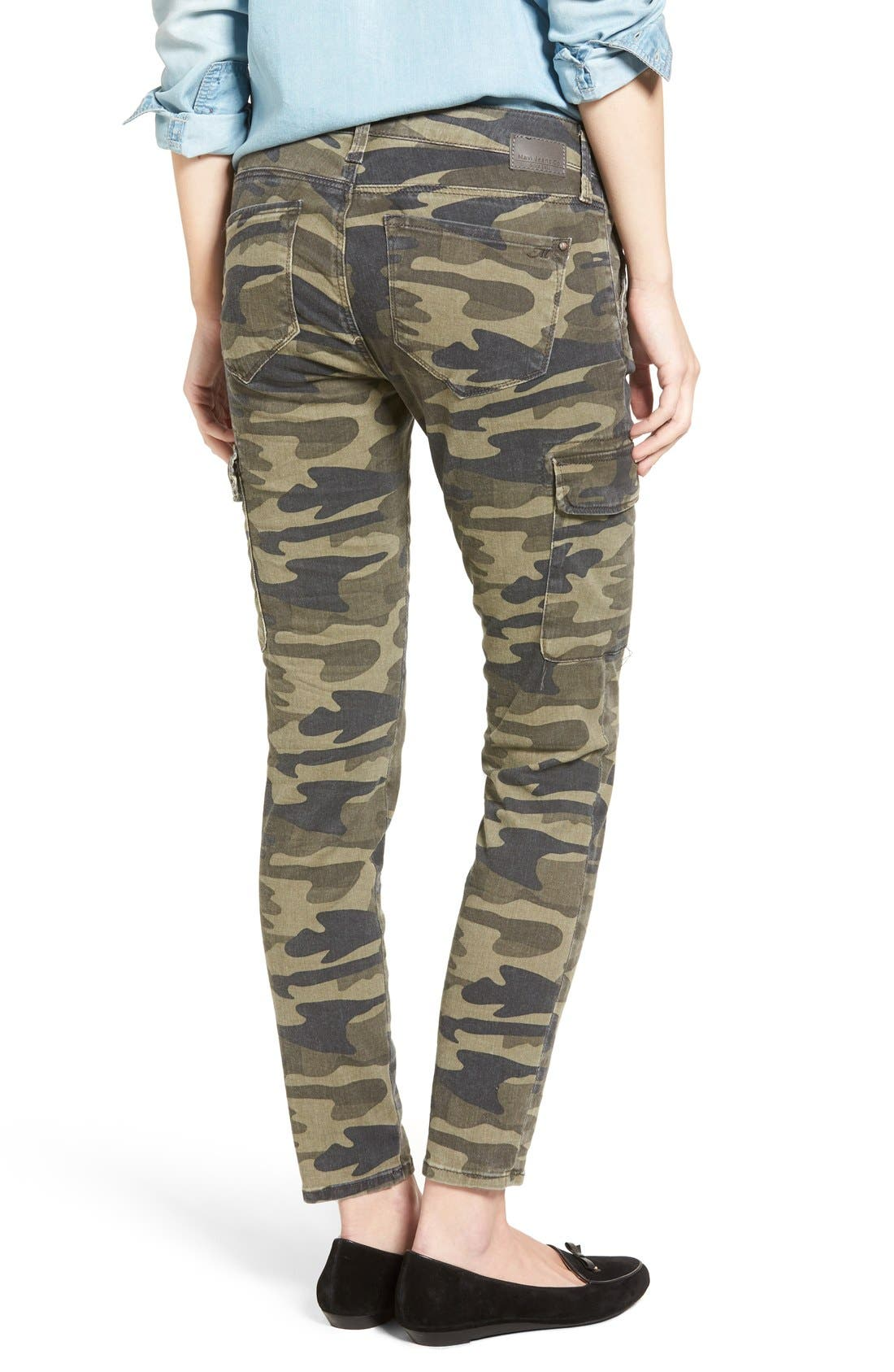 Juliette Camo Print Military Cargo Pants,                             Alternate thumbnail 3, color,                             MILITARY CAMOUFLAGE