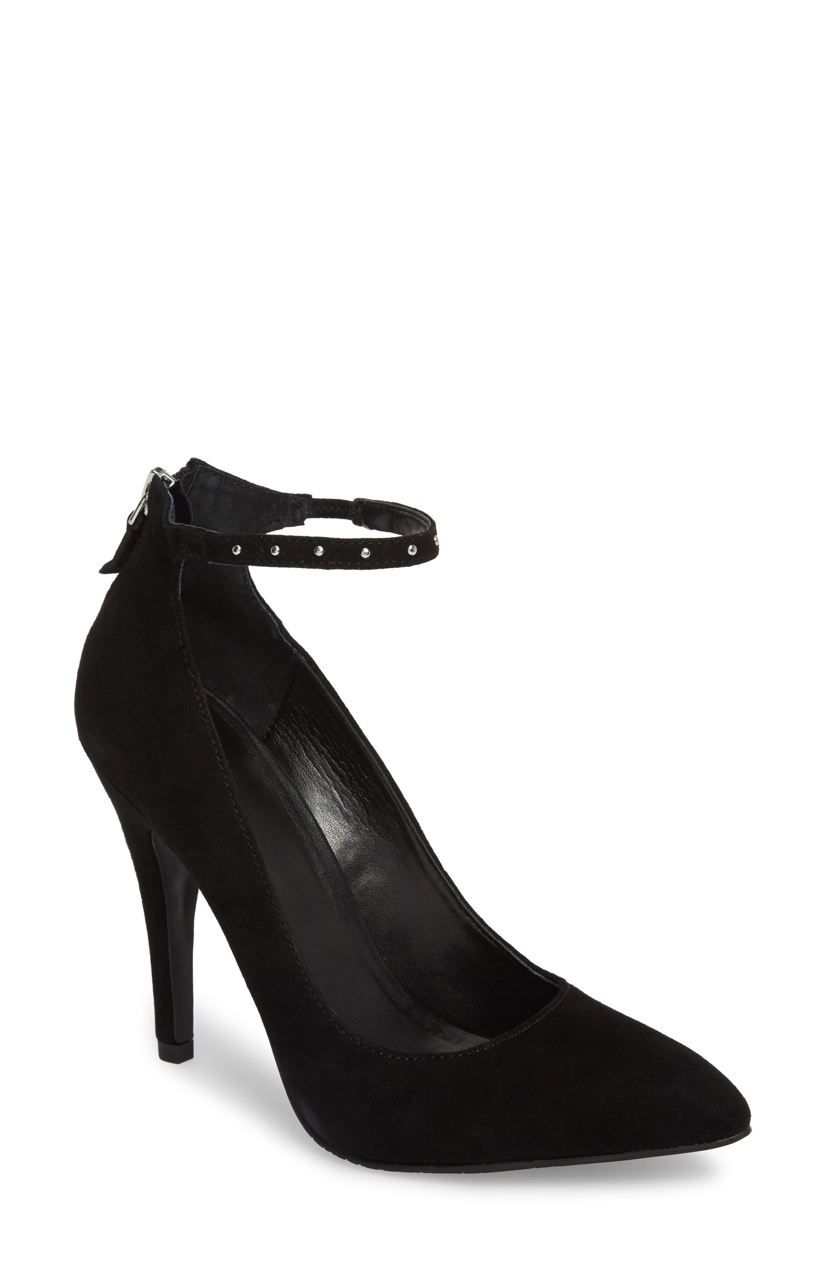 Janel Ankle Strap Pump,                         Main,                         color, 001