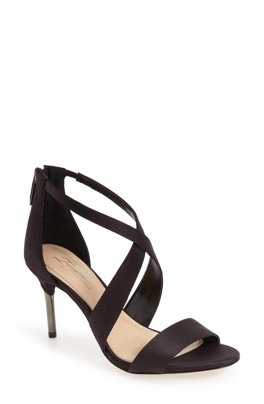 'Pascal' Sandal,                         Main,                         color, BLACK SATIN