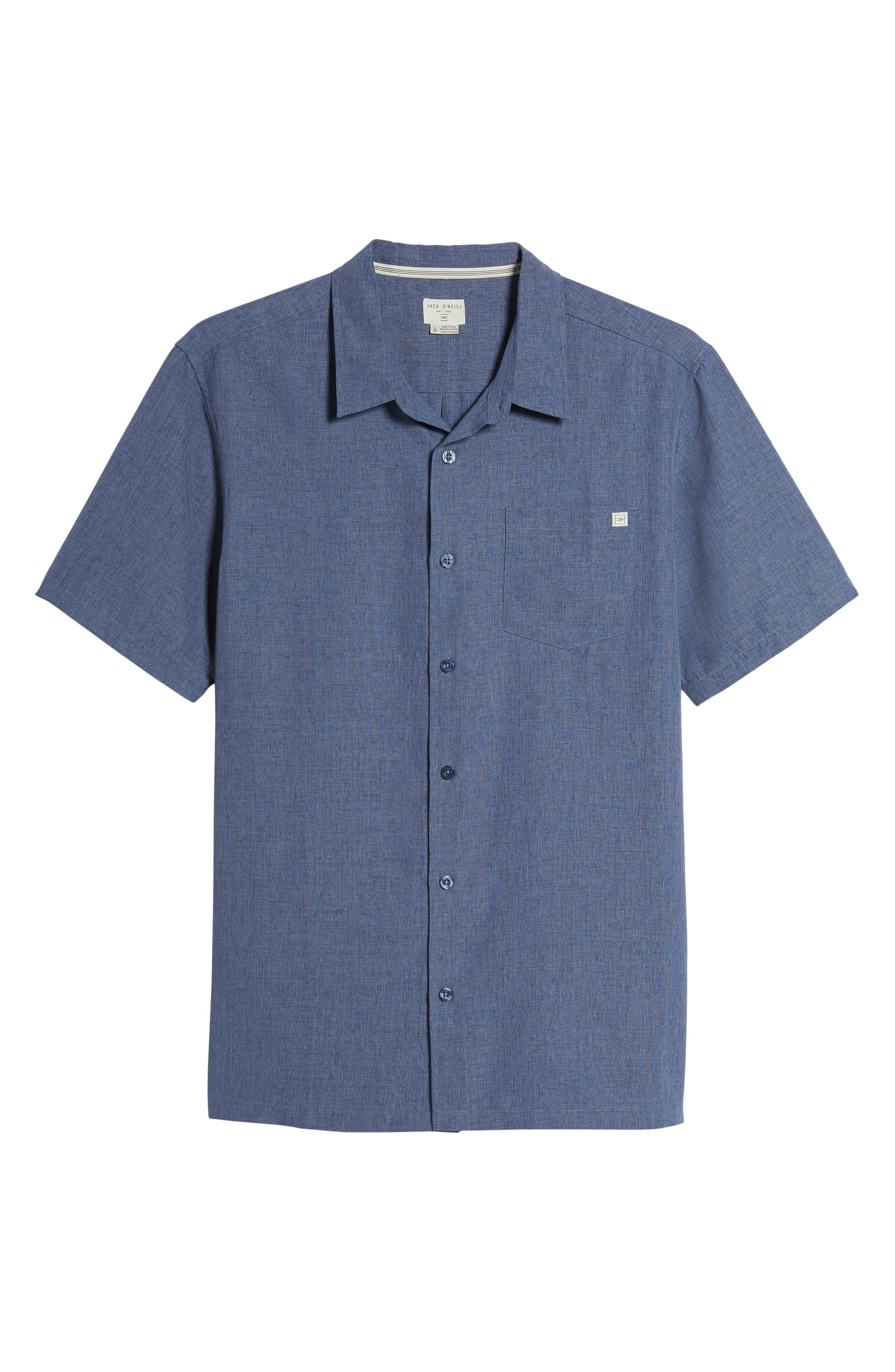Liberty Regular Fit Short Sleeve Sport Shirt,                             Alternate thumbnail 6, color,                             NAVY