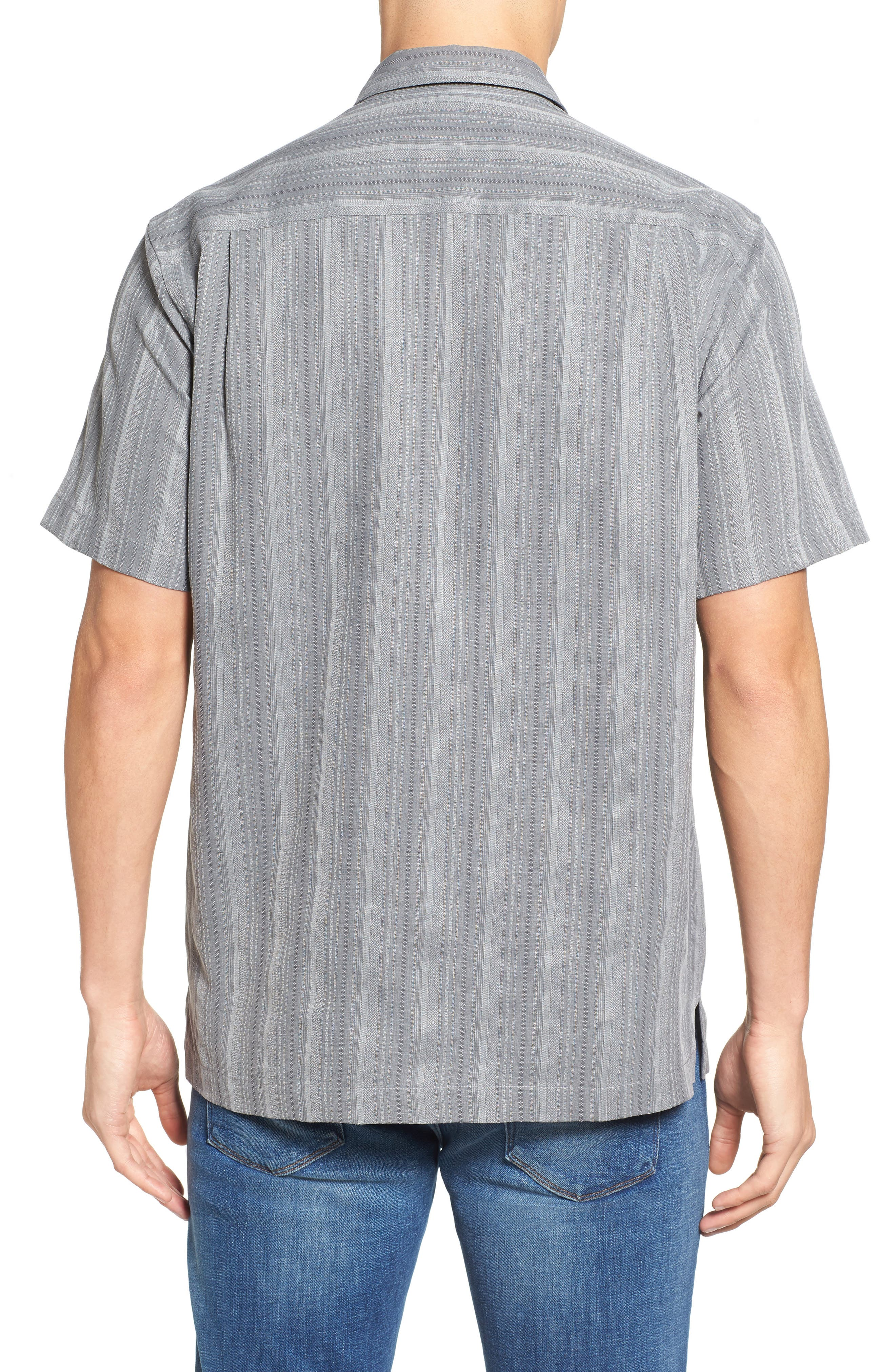 Zaldera Stripe Silk Camp Shirt,                             Alternate thumbnail 5, color,