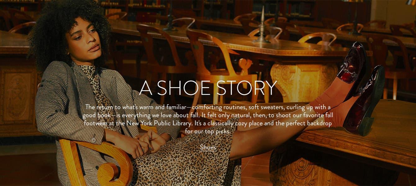 A shoe story: women's fall shoes.
