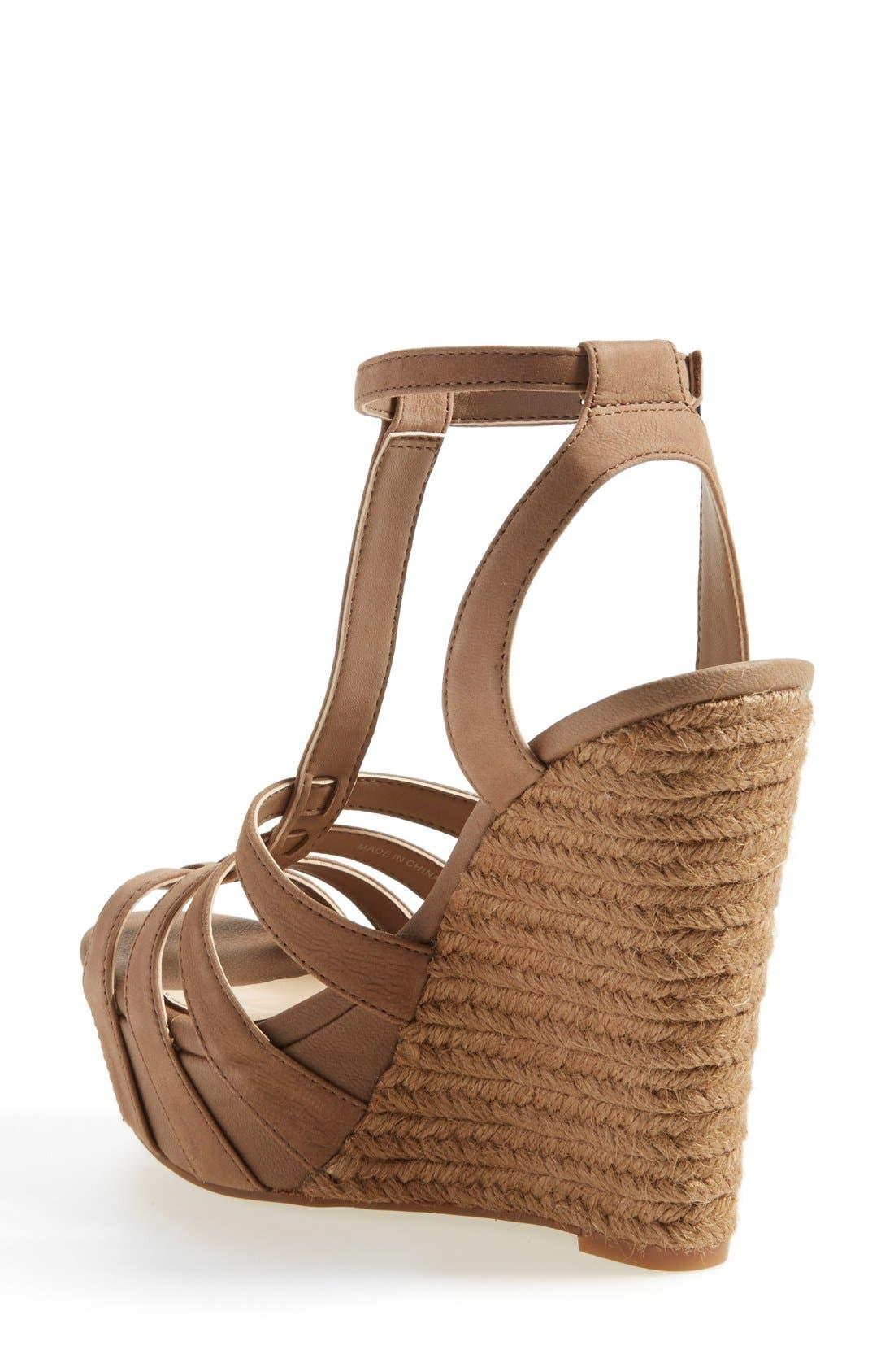 'Bristol' Ankle Strap Platform Wedge Sandal,                             Alternate thumbnail 4, color,                             250