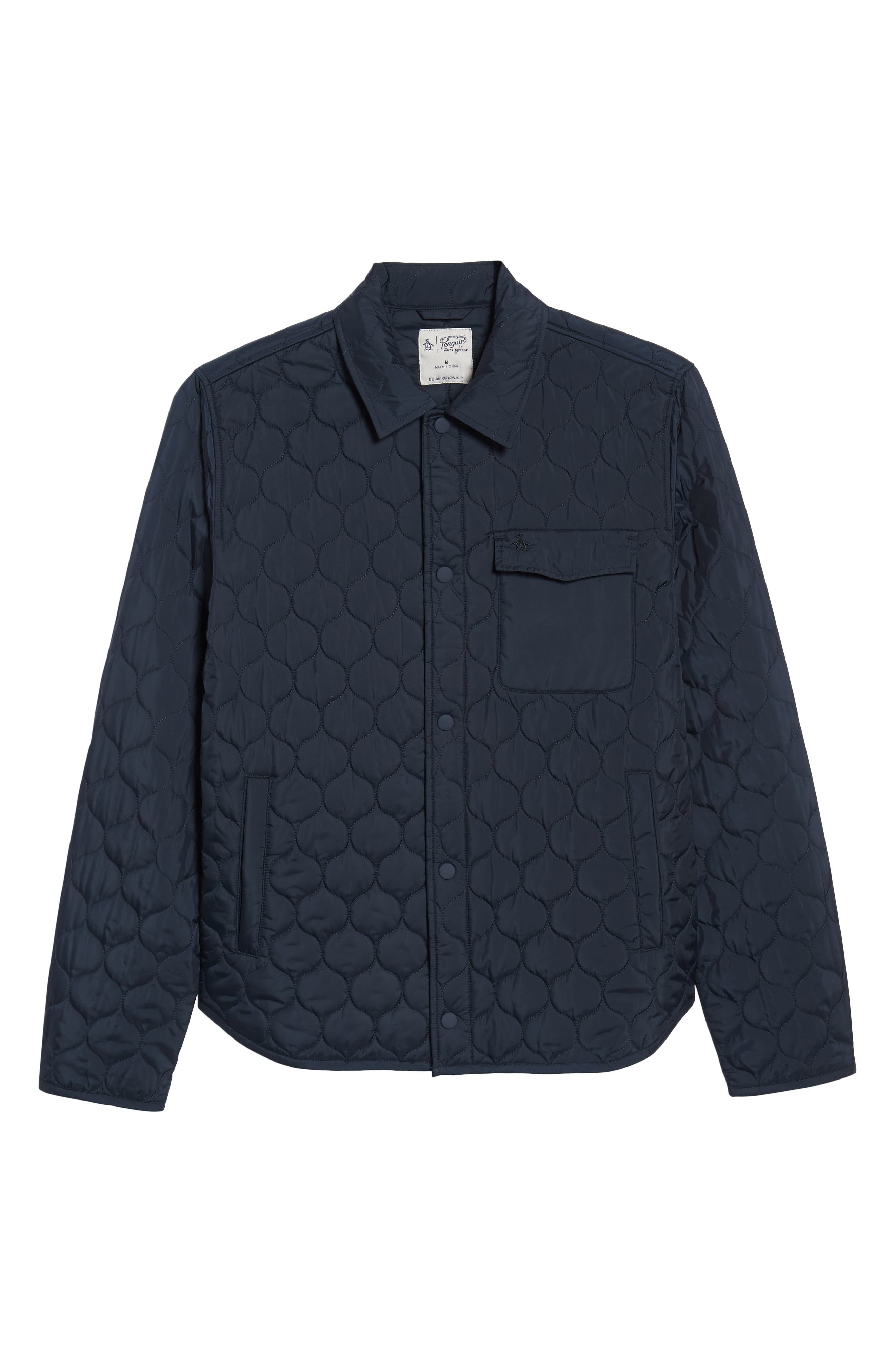 ORIGINAL PENGUIN,                             Lightweight Onion Quilted Jacket,                             Alternate thumbnail 5, color,                             413