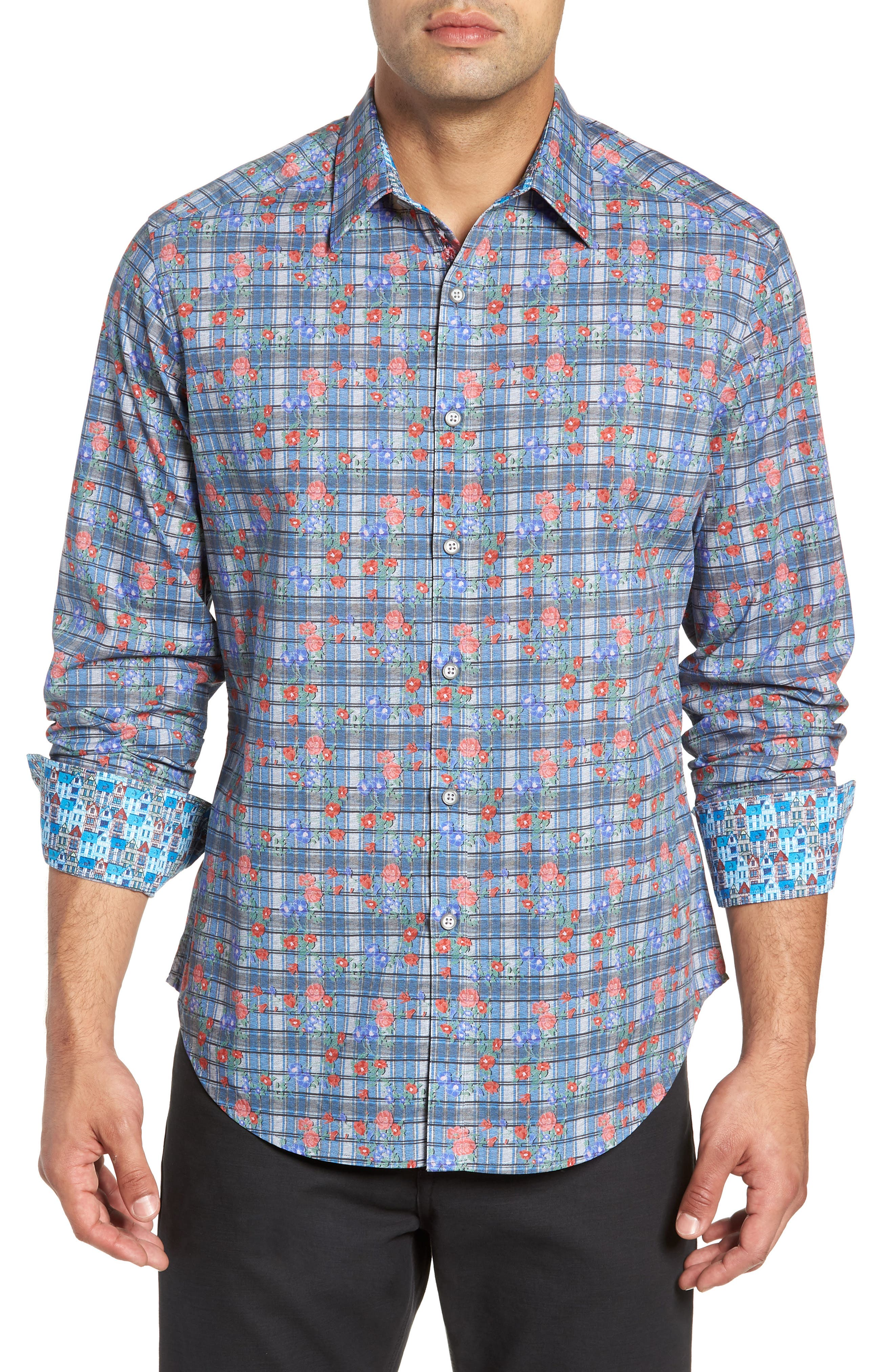 Danielson Classic Fit Sport Shirt,                             Main thumbnail 1, color,                             BLUE