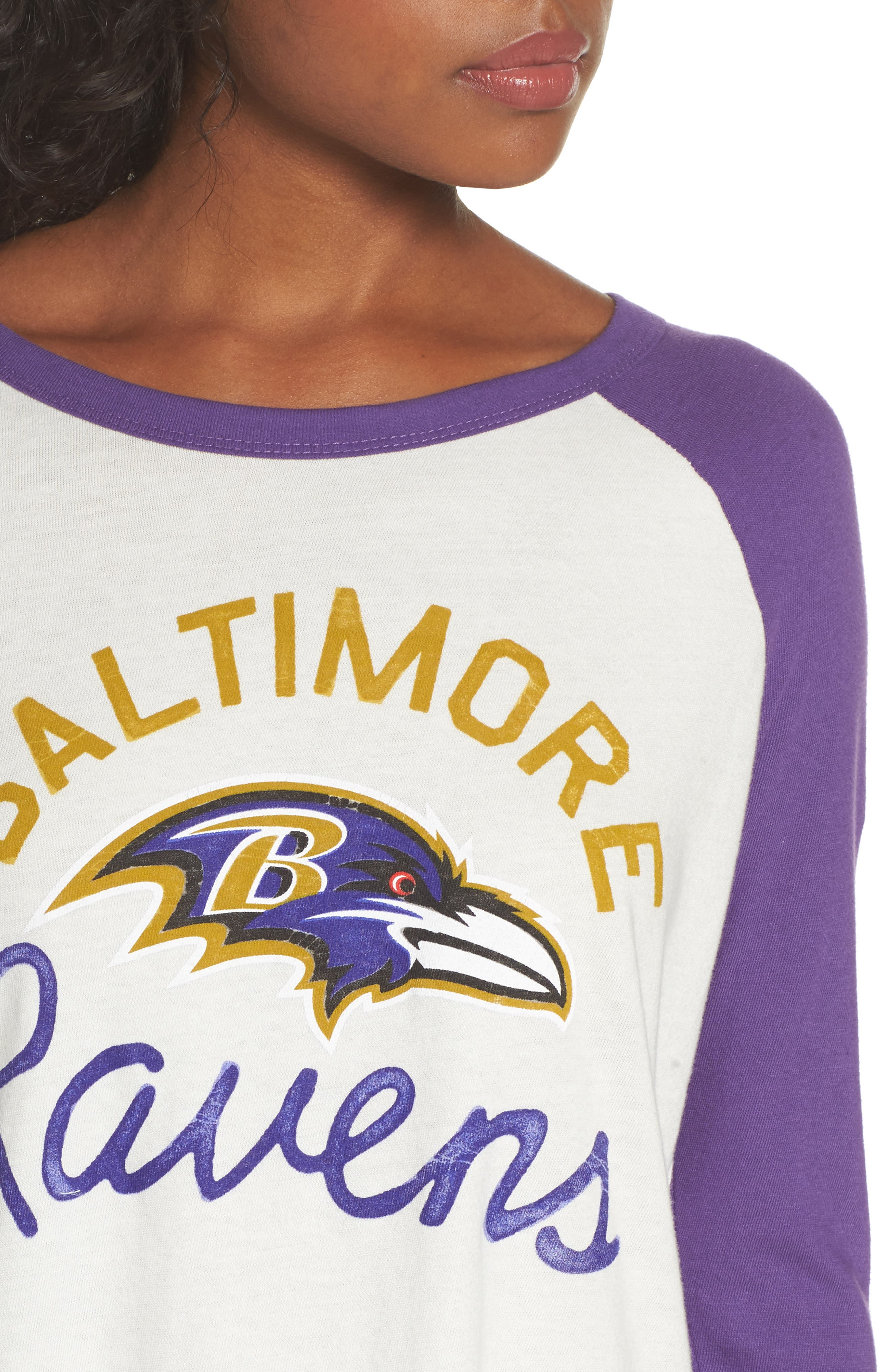 NFL Baltimore Ravens Raglan Tee,                             Alternate thumbnail 4, color,                             189