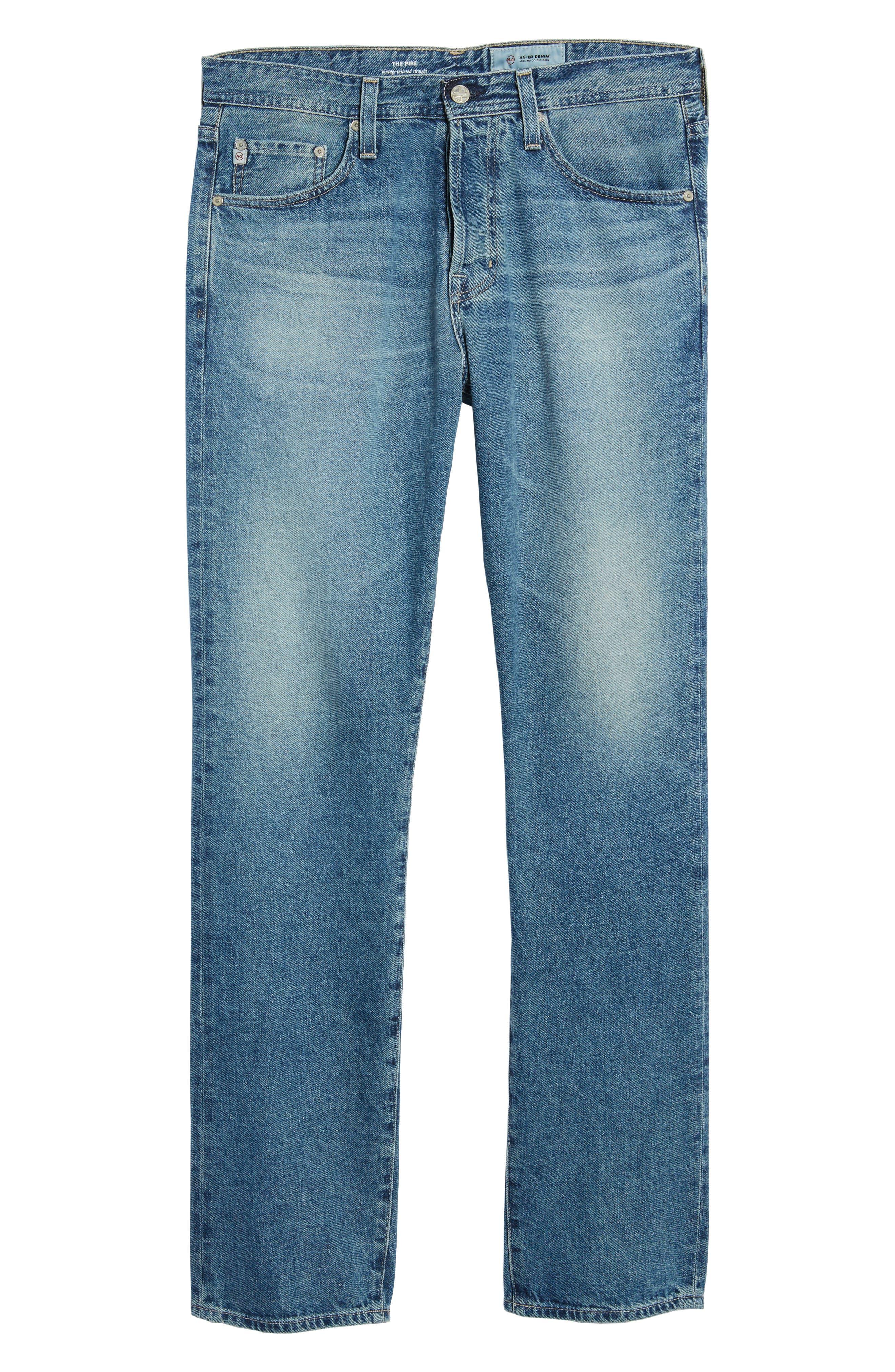 Pipe Slim Straight Leg Jeans,                             Alternate thumbnail 6, color,                             464