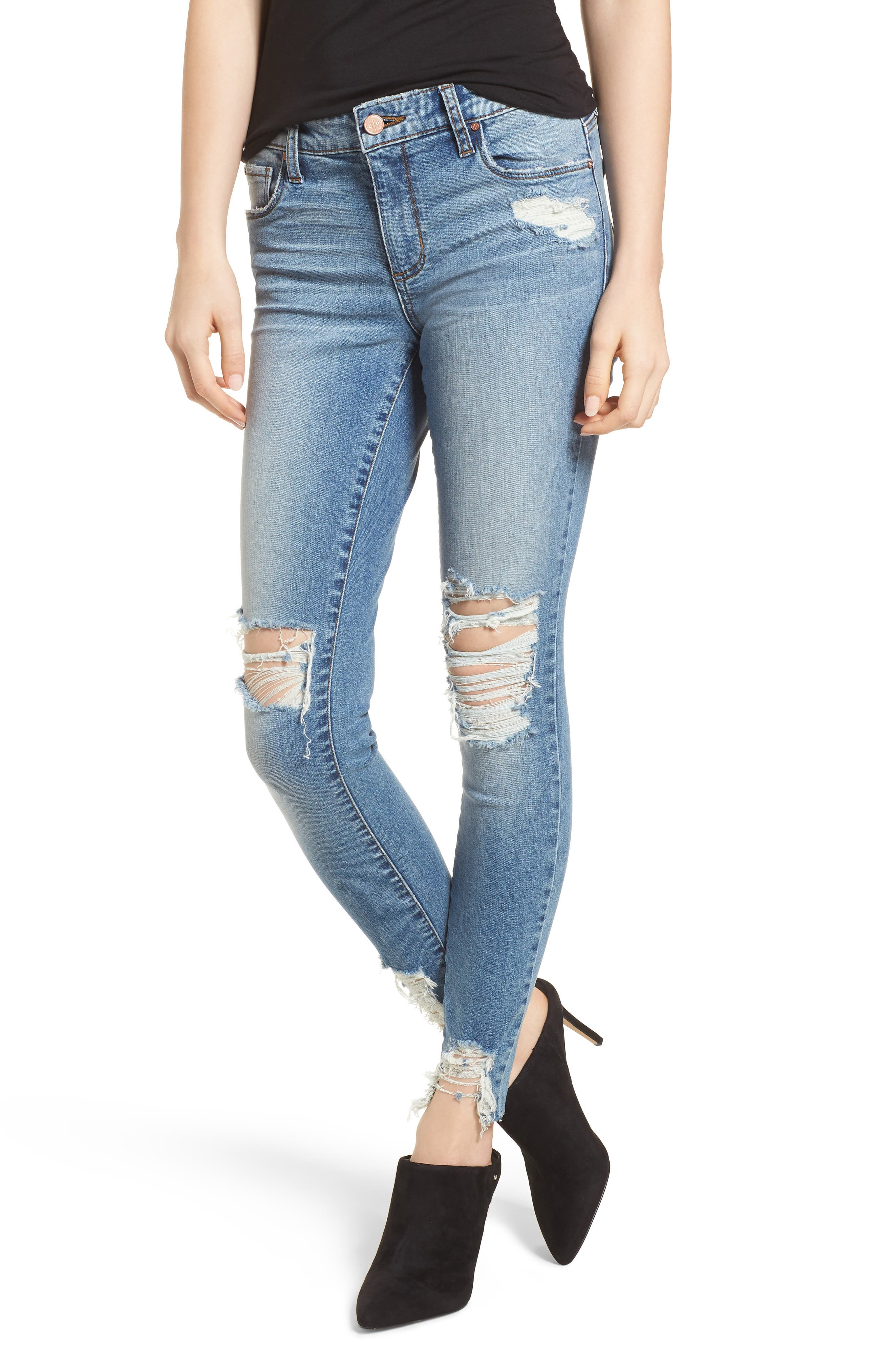 Ripped Skinny Jeans,                             Main thumbnail 1, color,                             420