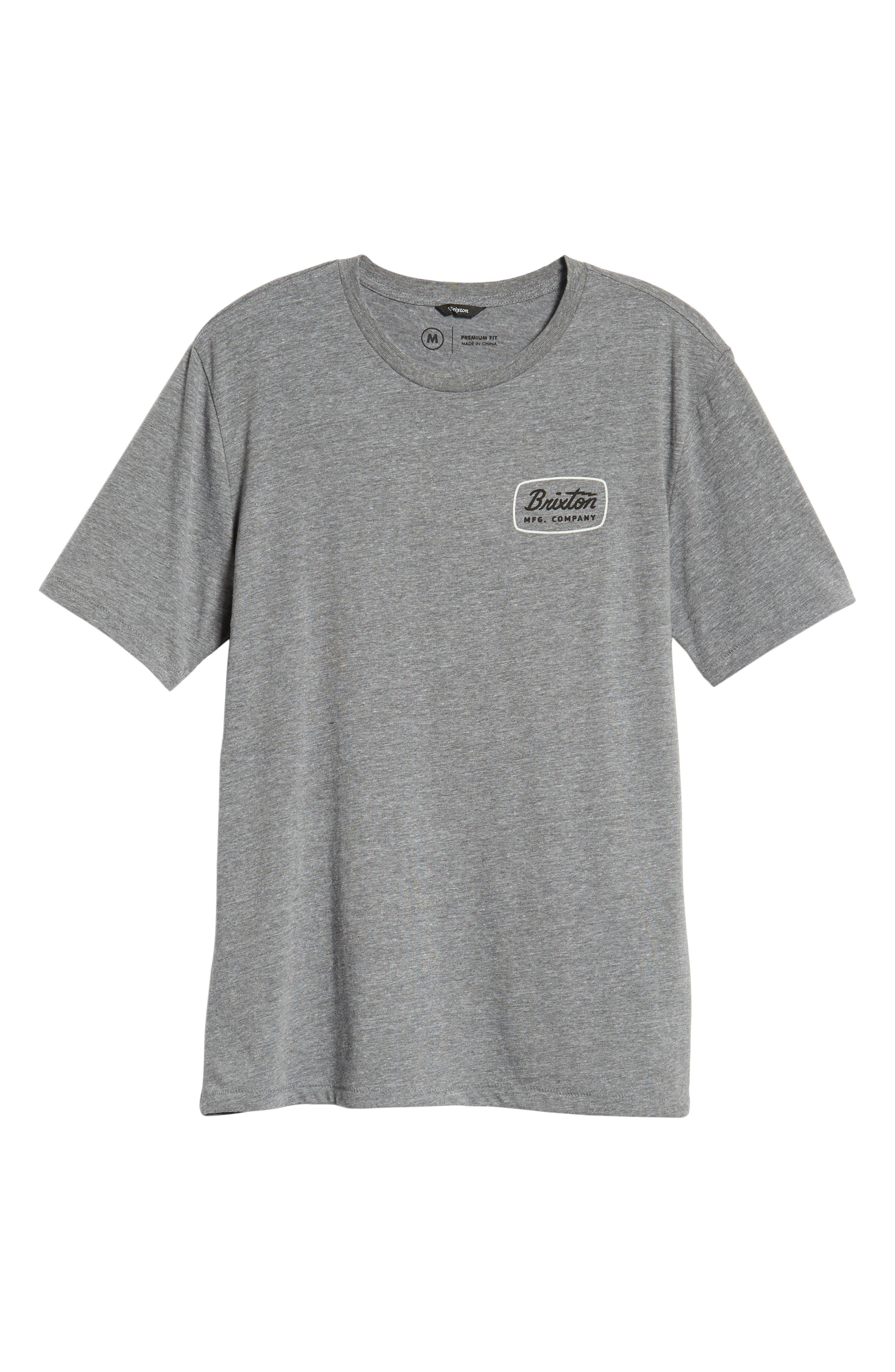 Jolt T-Shirt,                             Alternate thumbnail 6, color,                             HEATHER GREY/ WHITE