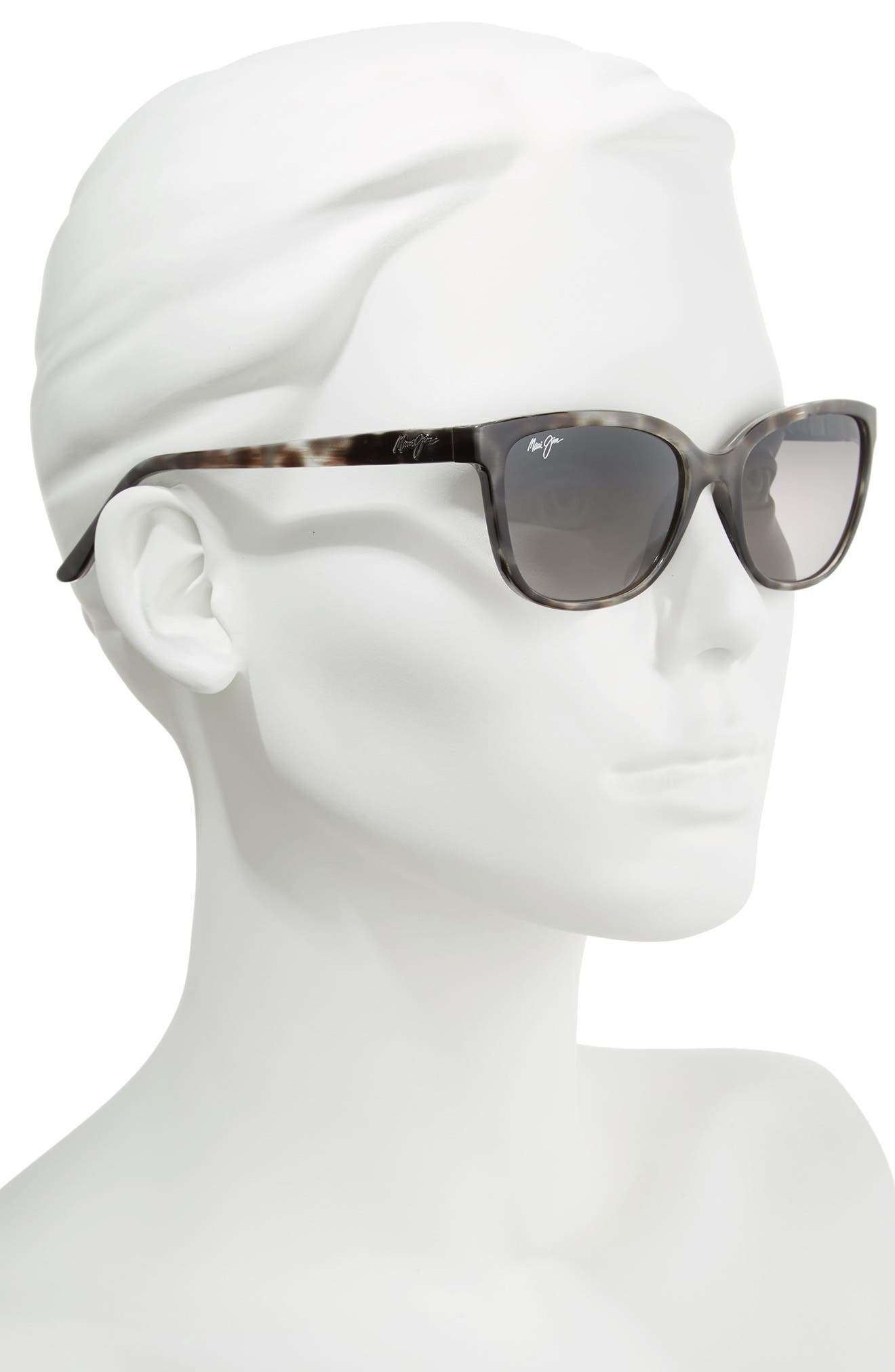 Honi 54mm Polarized Cat Eye Sunglasses,                             Alternate thumbnail 2, color,                             GREY TORTOISE STRIPE