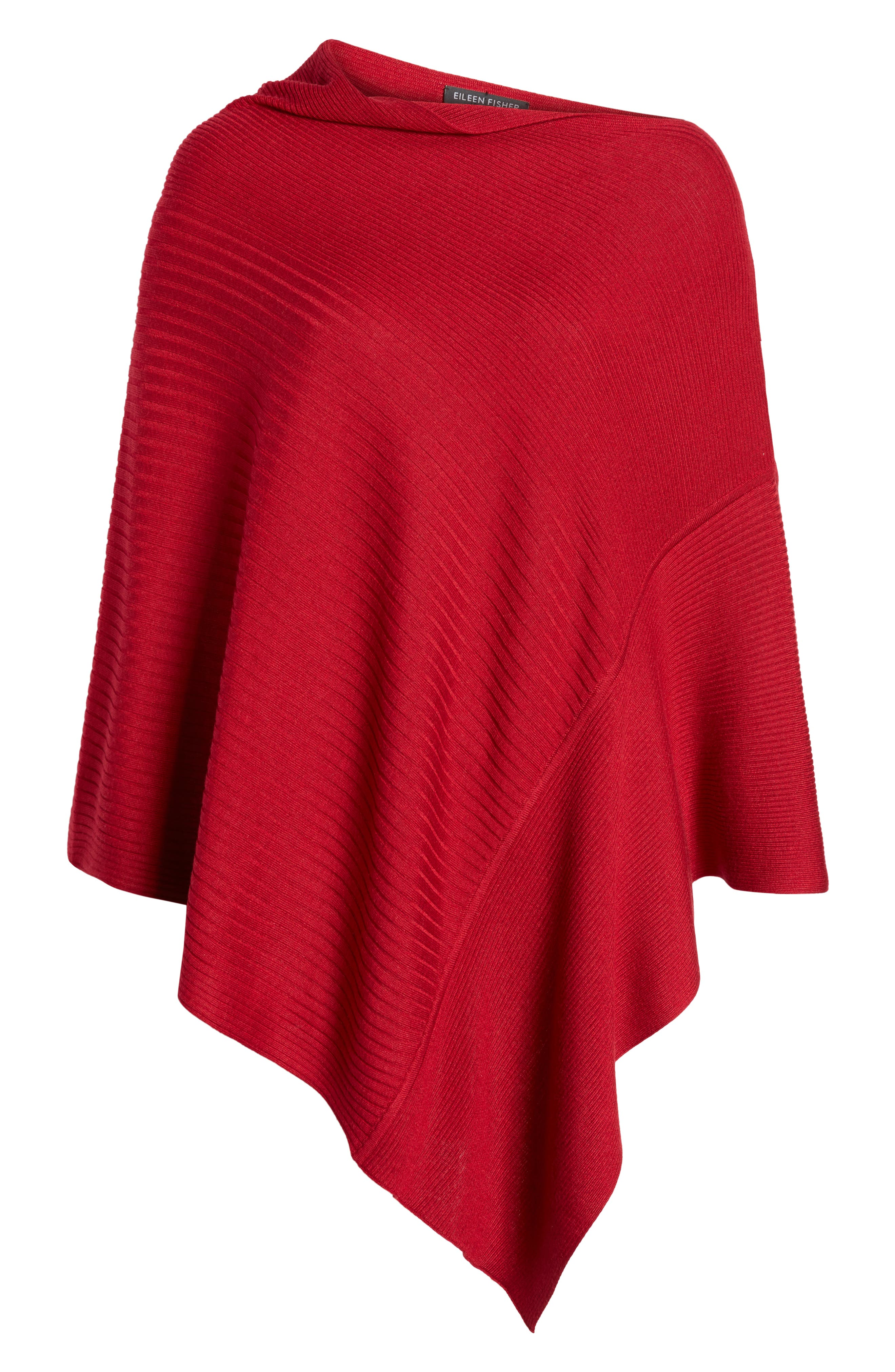 Bateau Neck Sweater Poncho,                             Alternate thumbnail 18, color,