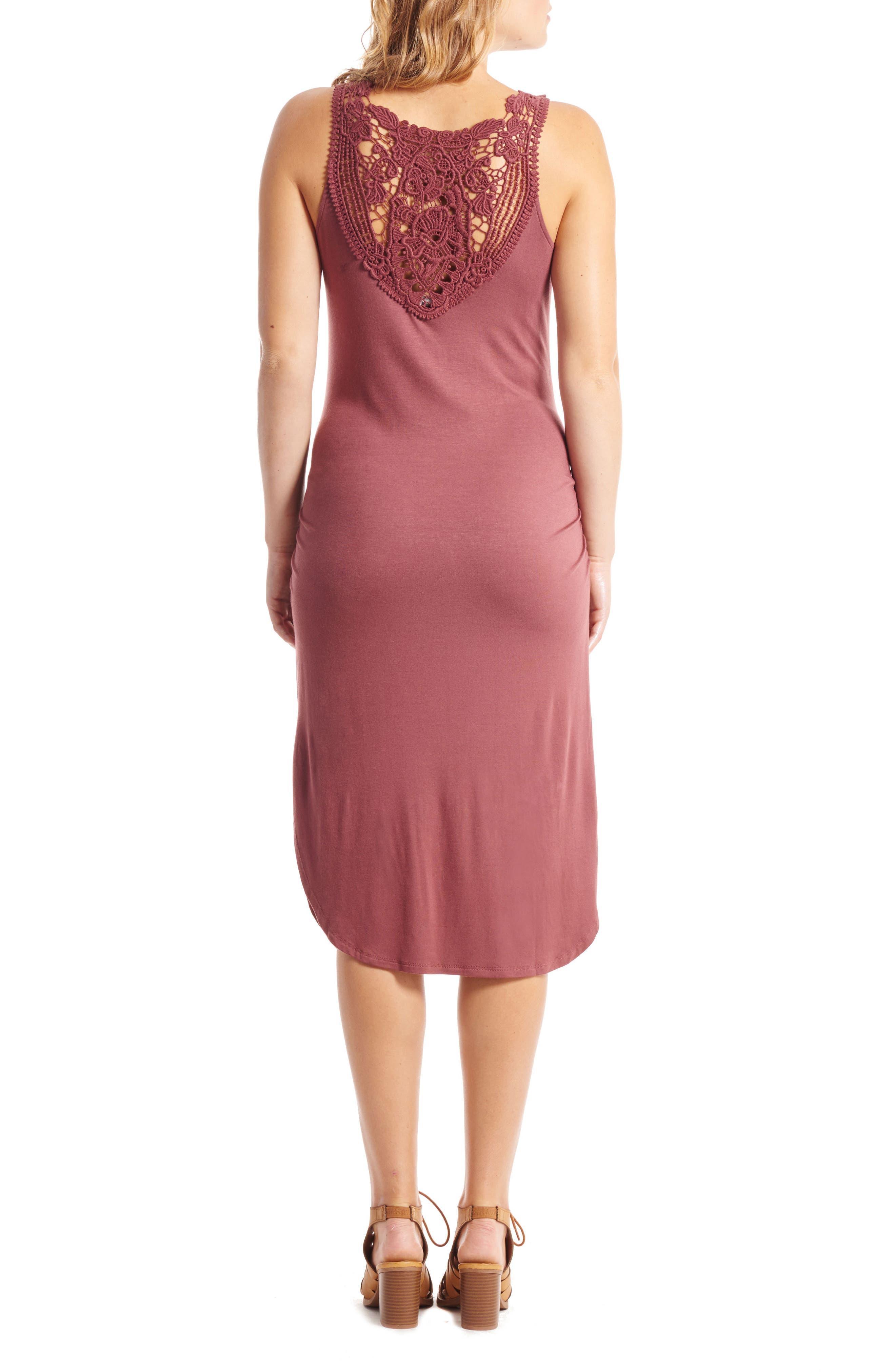 Demi Maternity/Nursing Dress,                             Alternate thumbnail 2, color,                             CAYENNE