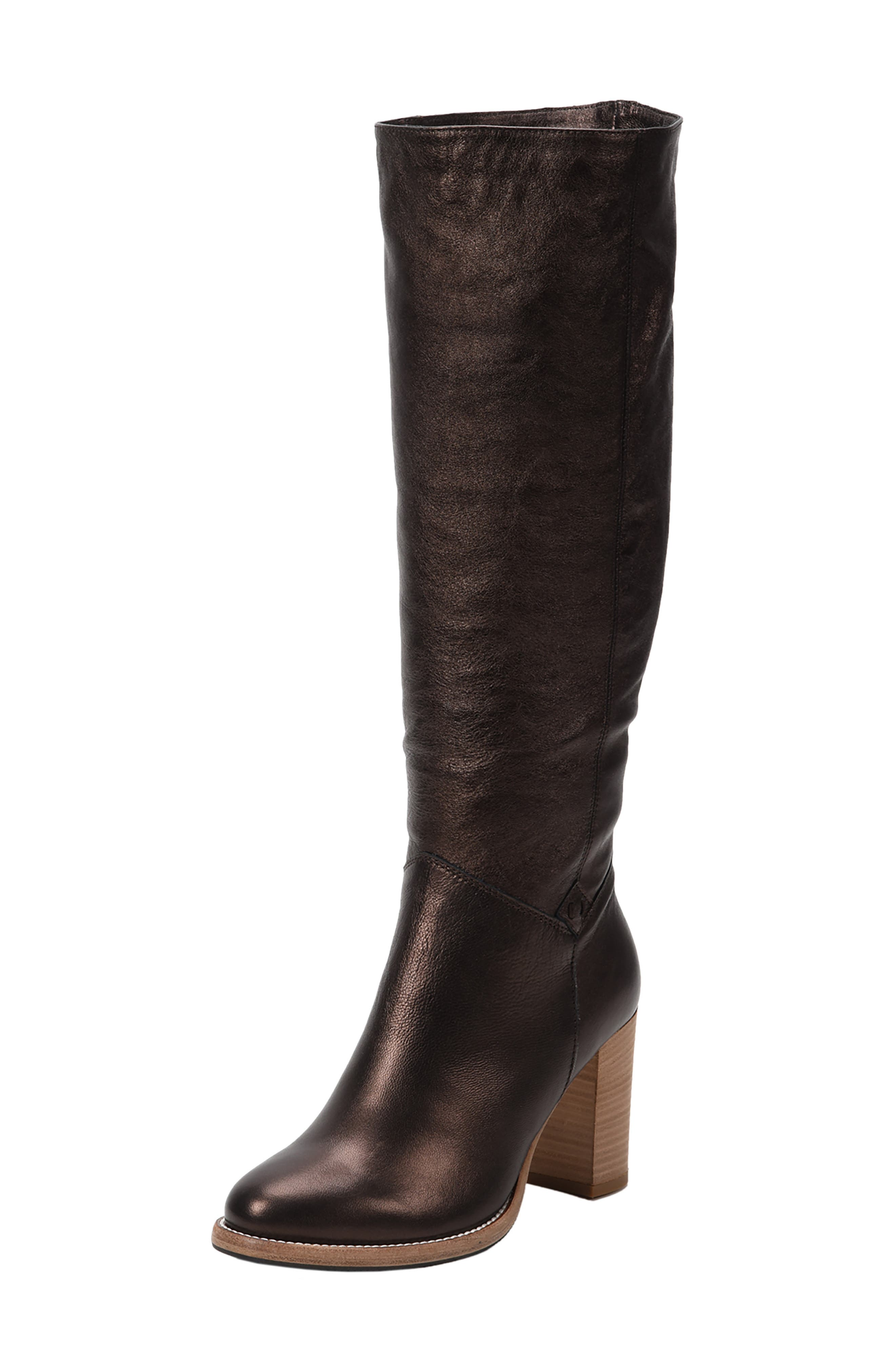 Ross & Snow Michela Sp Waterproof Genuine Shearling Lined Boot, Brown