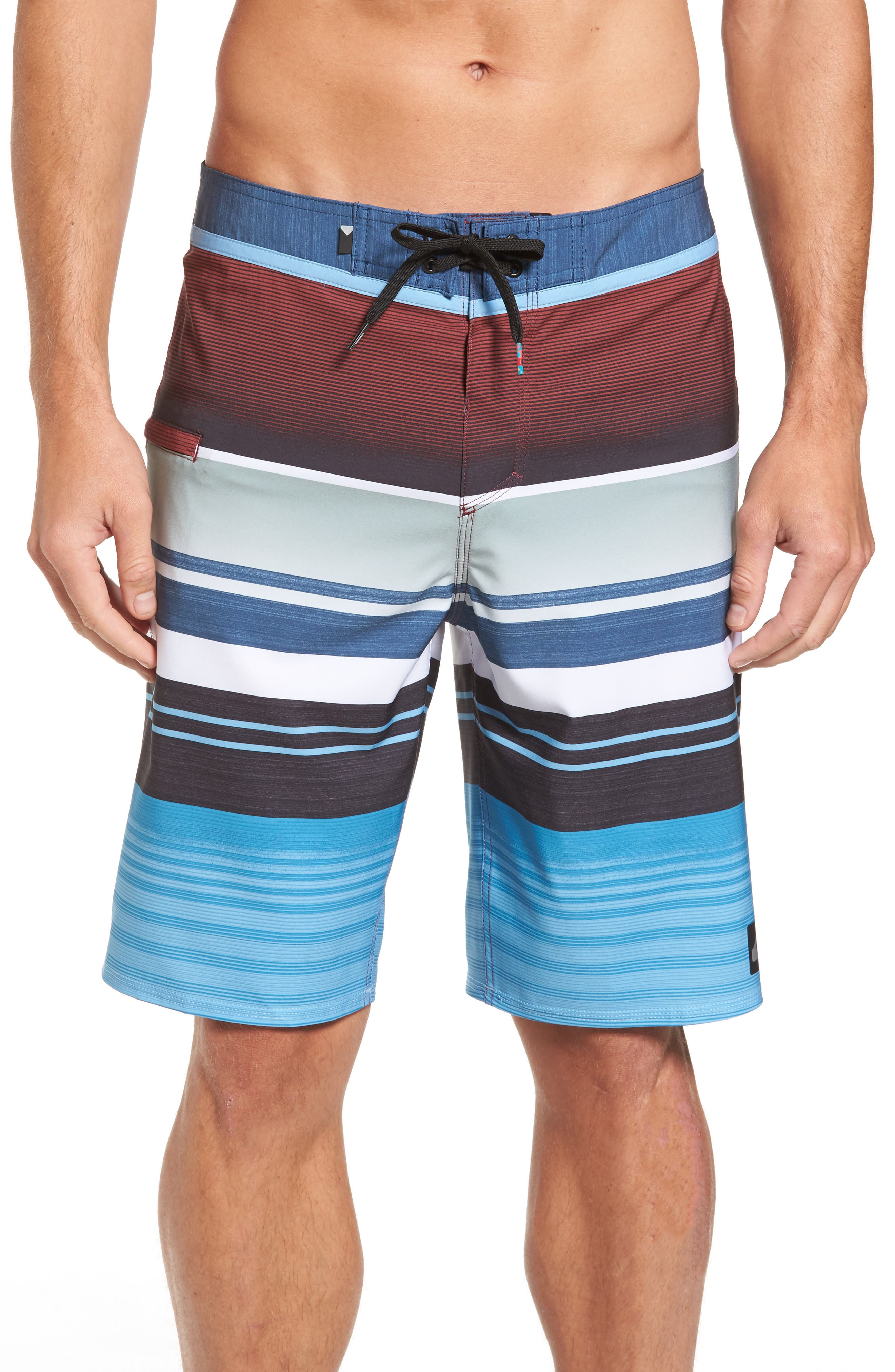Everyday Stripe Board Shorts,                             Main thumbnail 1, color,                             401